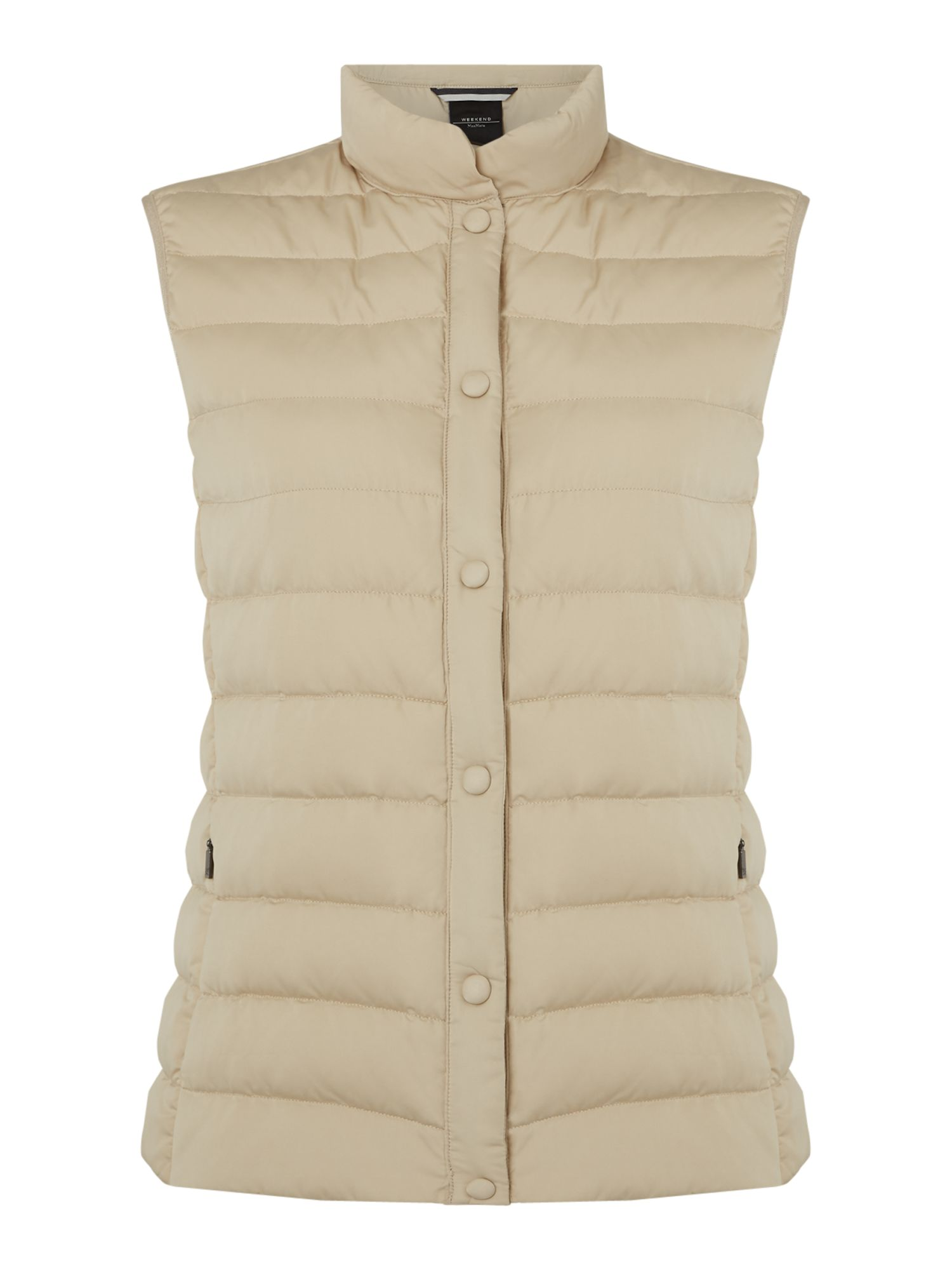 Max Mara Weekend Creta padded collarless gilet, Sand