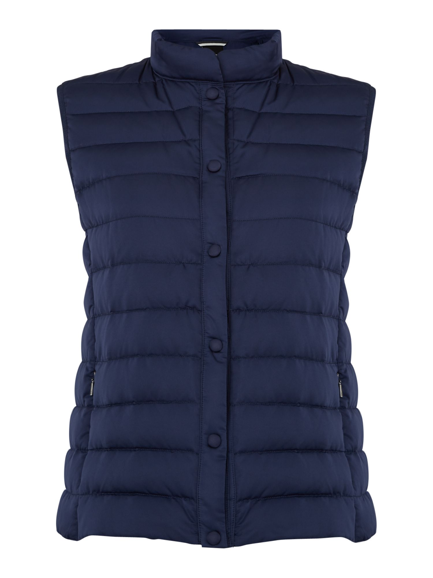 Max Mara Weekend Creta padded collarless gilet, Blue