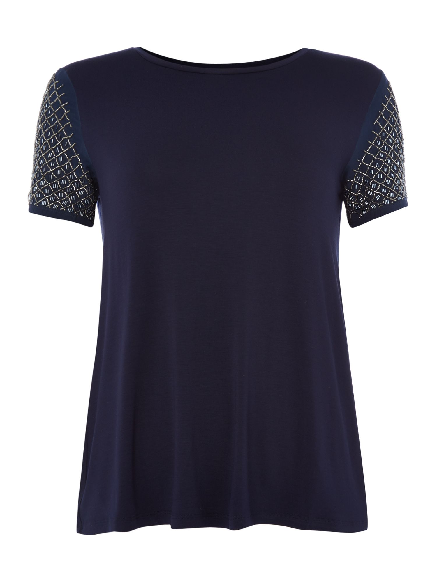 Max Mara Weekend Teti beaded front t-shirt, Ultramarine