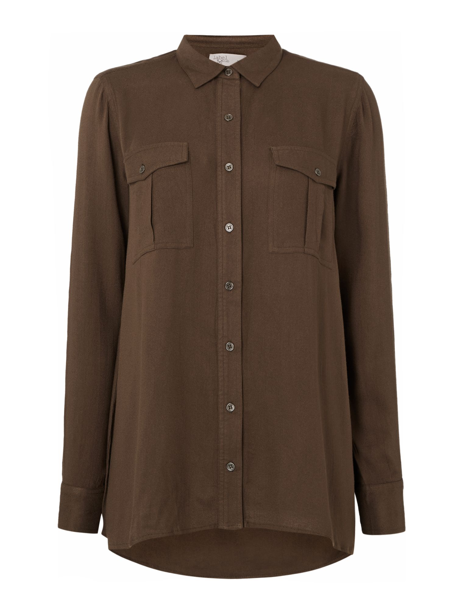Label Lab Viscose Moss Shirt, Khaki