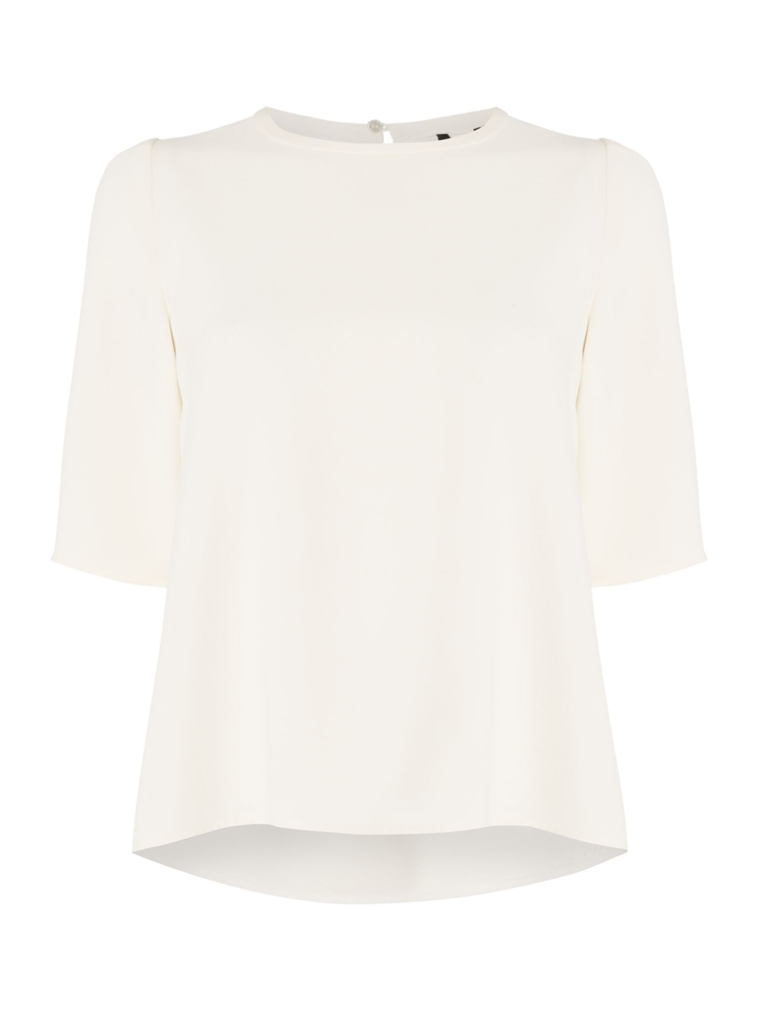 Marella Bolivar short sleeve shell top, White