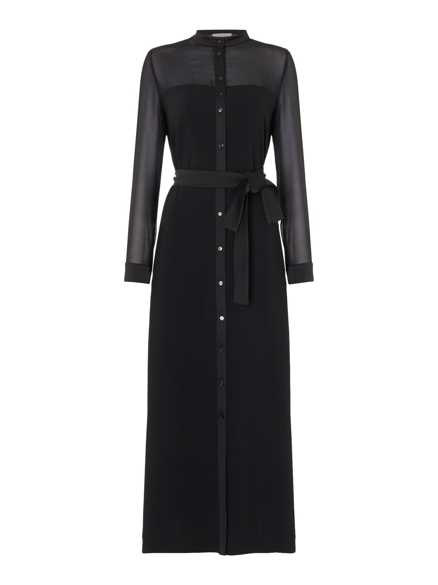 Marella Edo long black shirt dress, Black