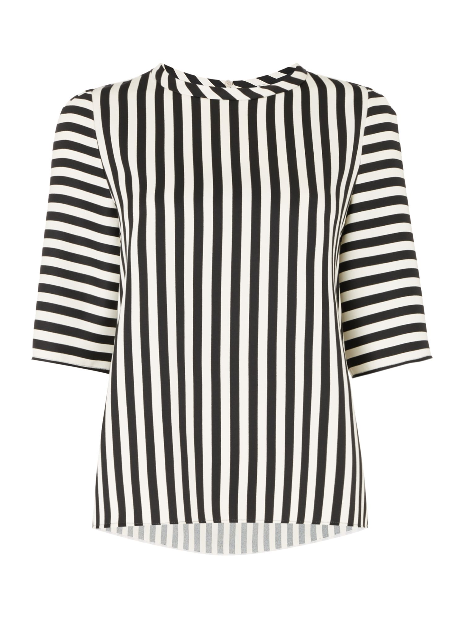 Marella Riva stripey shell top, Black