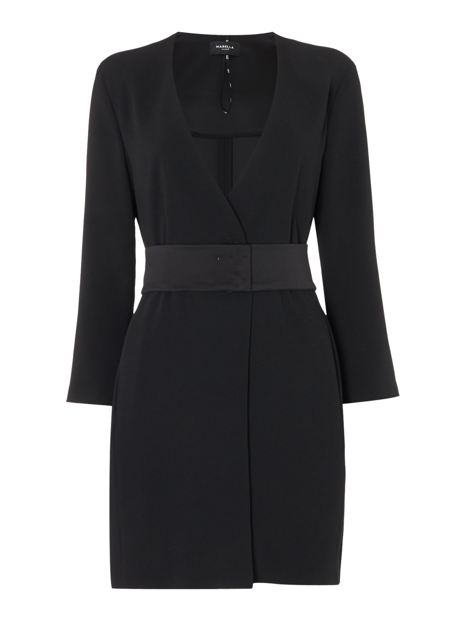 Marella Scherma black dress coat, Black