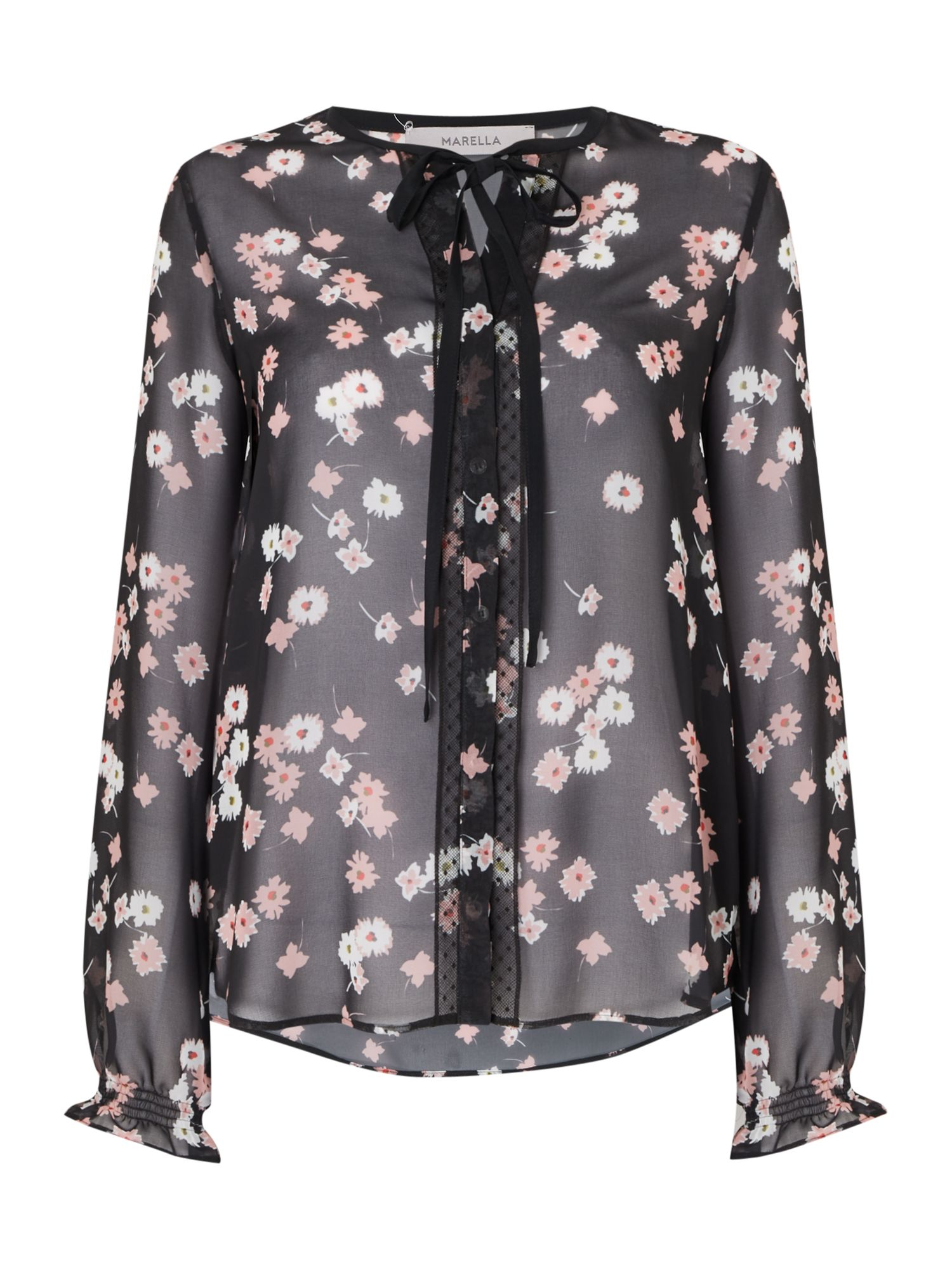 Marella Ozio printed floral top, Multi-Coloured