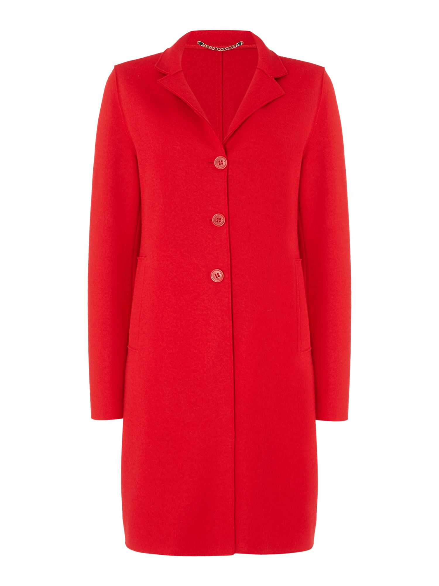 Marella Ecru wool coat, Red