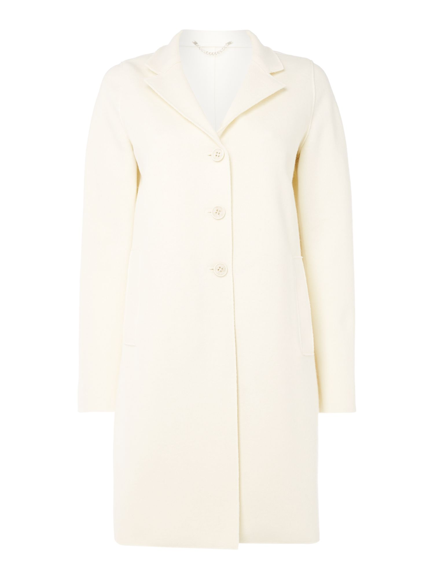 Marella Ecru wool coat, White