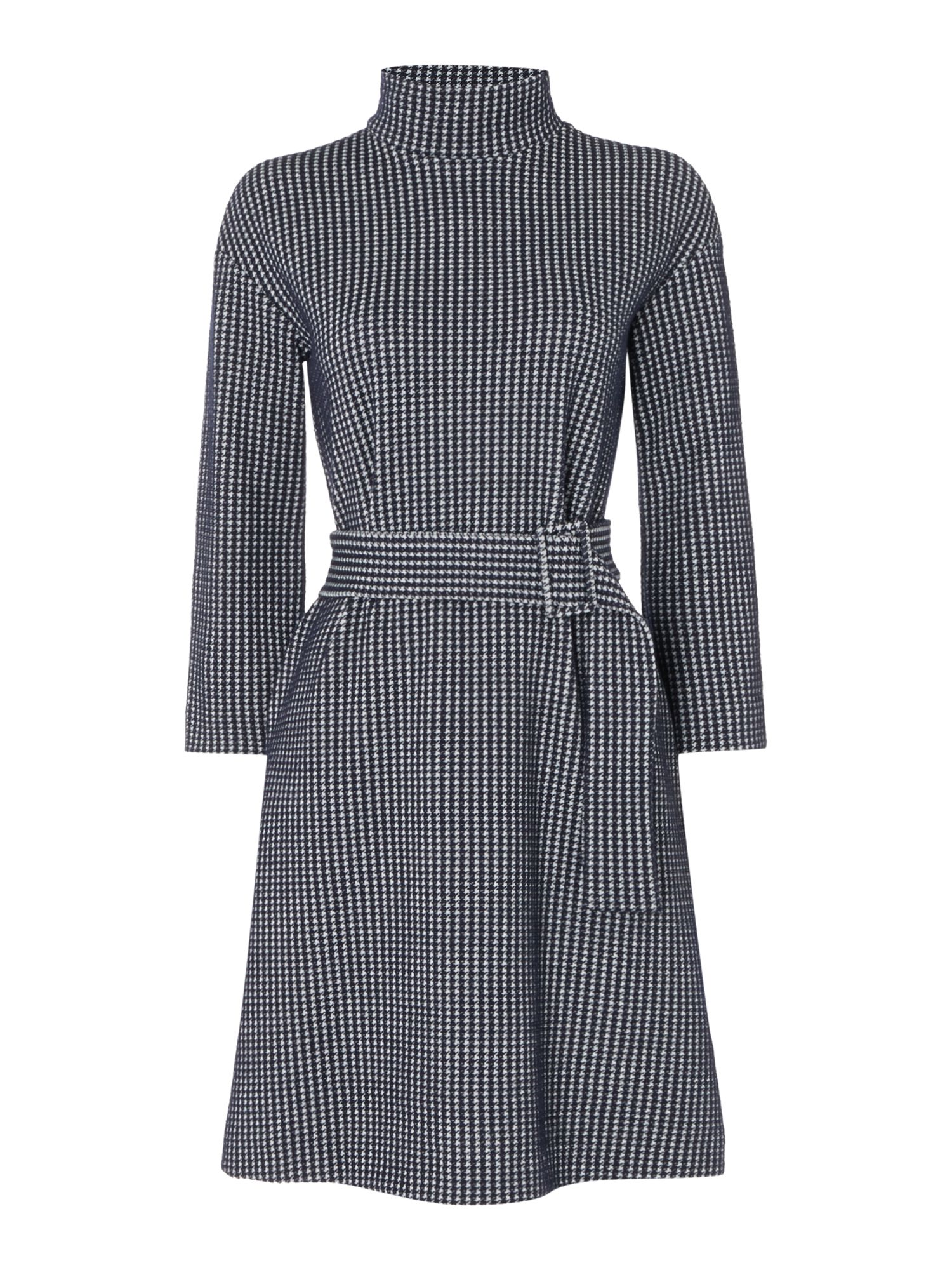 Marella Effige houndstooth dress, Midnight