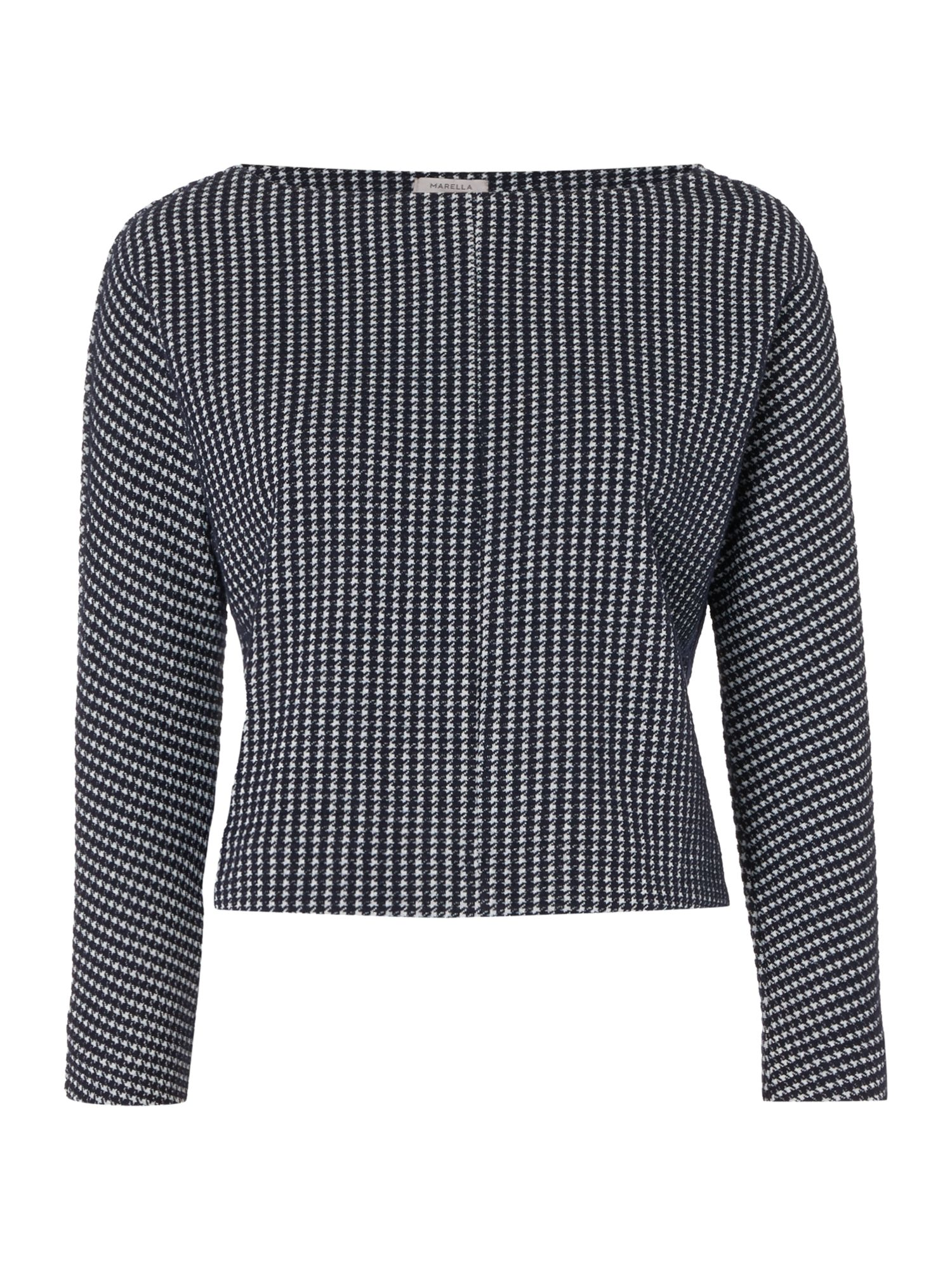 Marella Oriana houndstooth top, Midnight