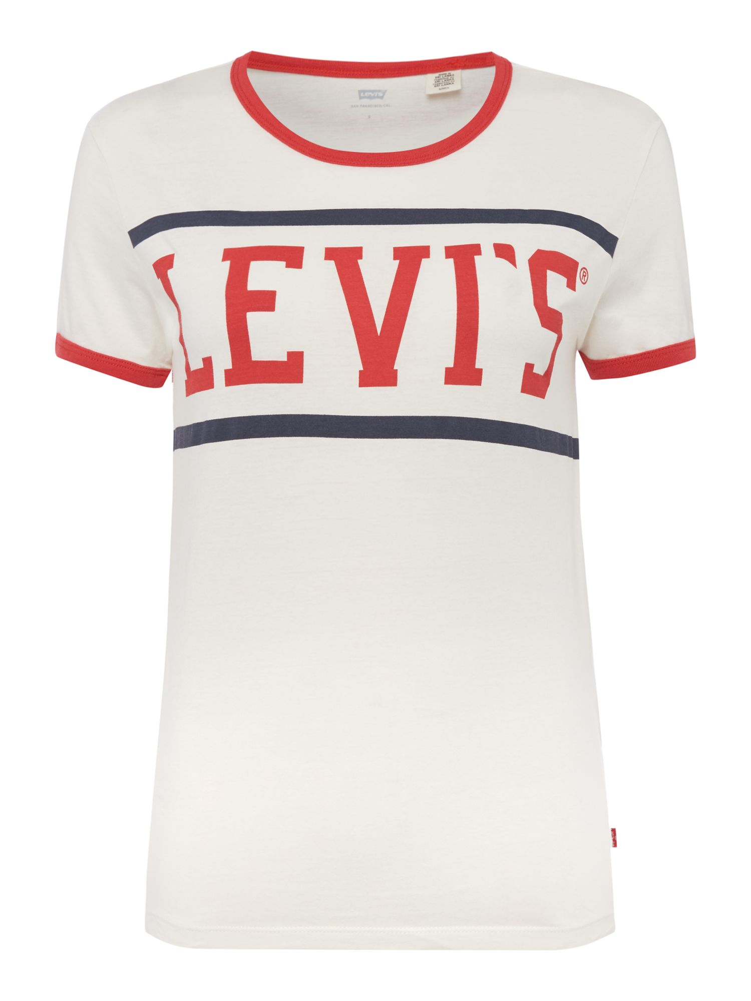 Levi's Perfect Ringer T-shirt In Sport Marshmallow, White