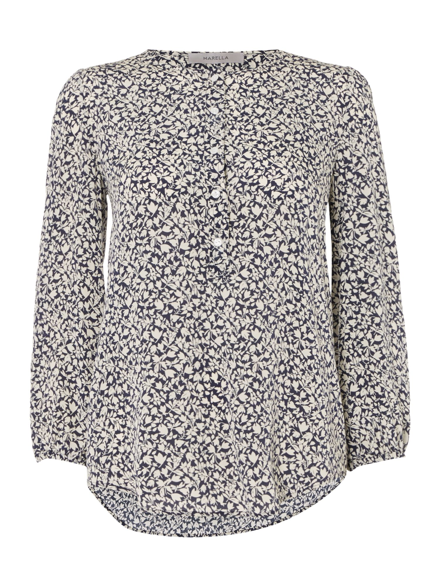 Marella Bice printed button blouse, Blue