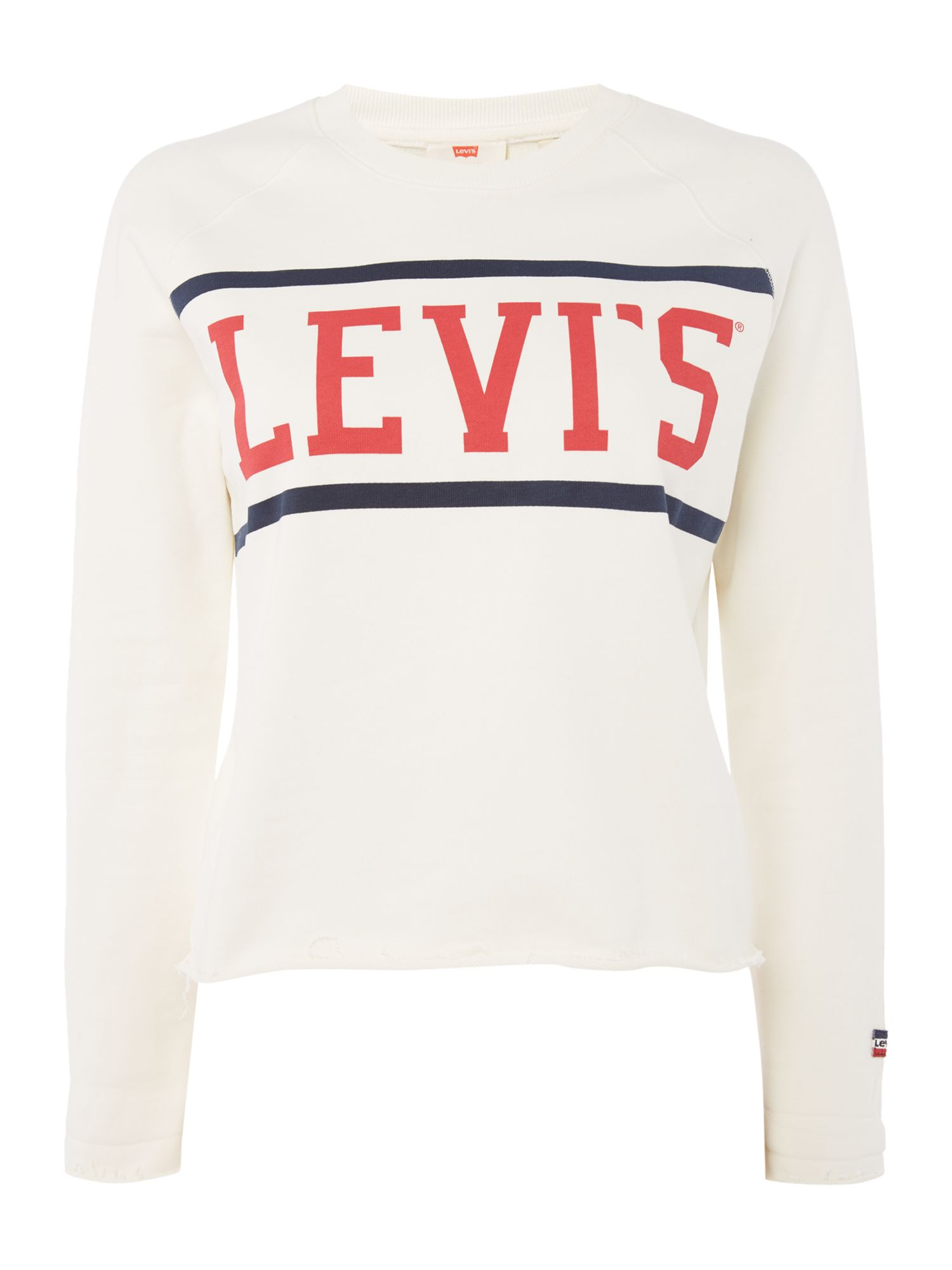 Levi's Graphic Sweatshirt In Fleece Sport Marshmallow, White