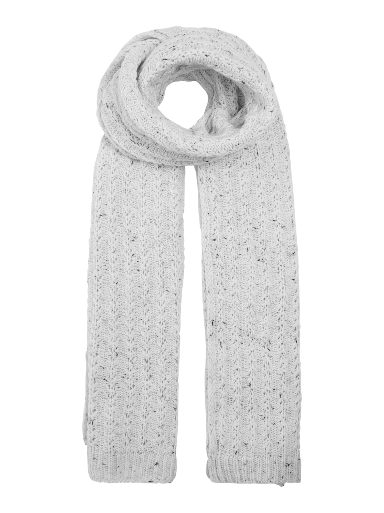 Dents Marl knitted scarf, Cream