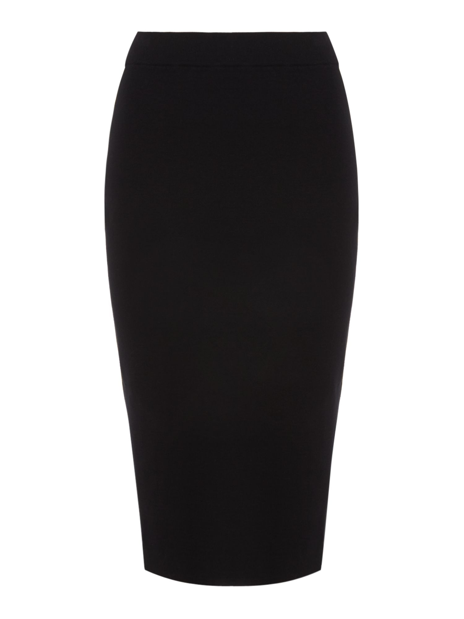 Sportmax Code Manuel knitted skirt with side stripe, Black