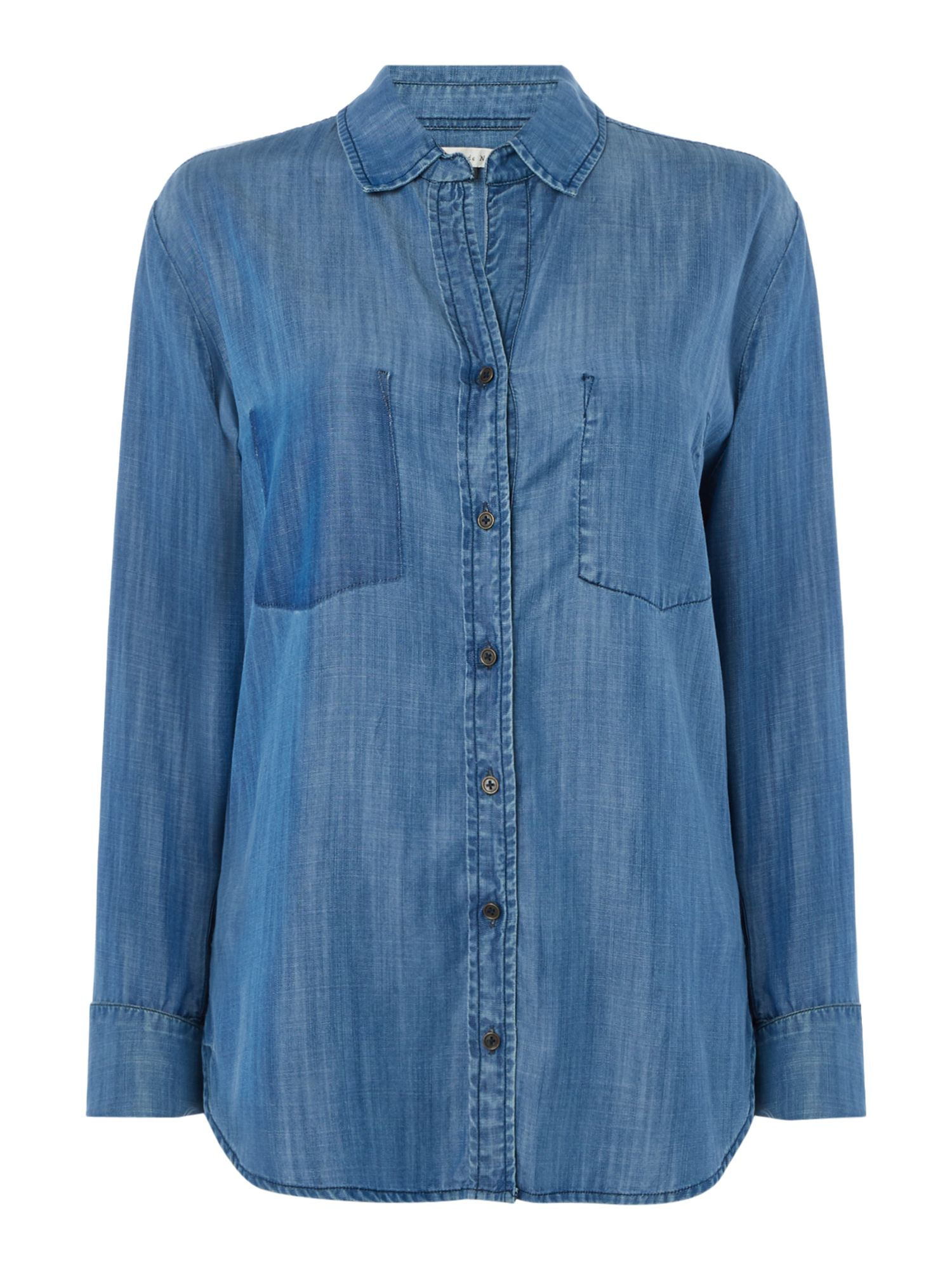 Maison De Nimes Painters Denim Shirt, Blue
