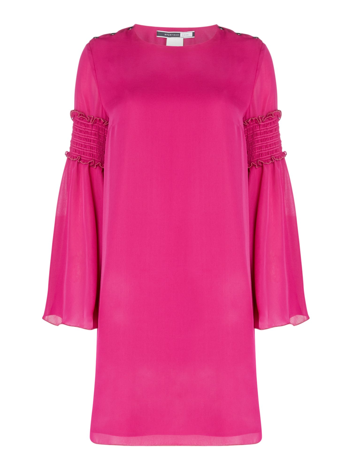Sportmax Code Palermo dress with ruffle detail flared sleeve, Pink