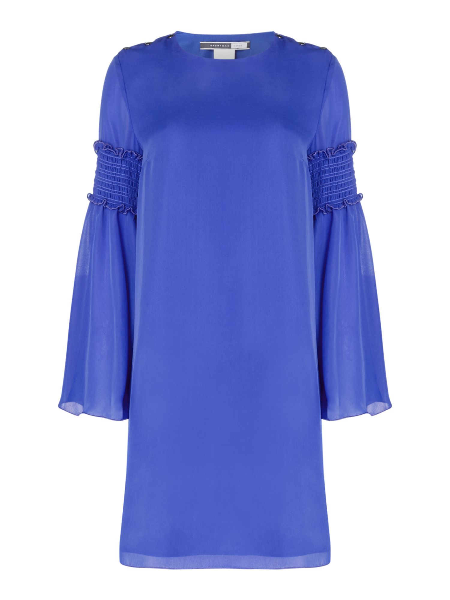Sportmax Code Palermo dress with ruffle detail flared sleeve, Cornflower