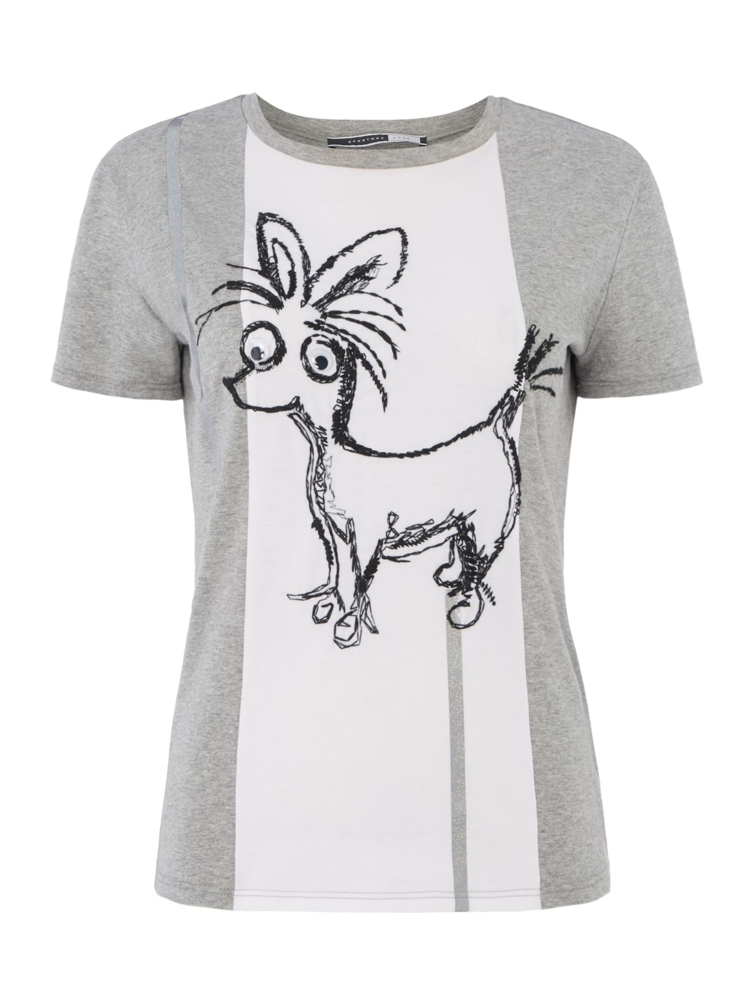 Sportmax Code Buona applique flower tee, Light Grey
