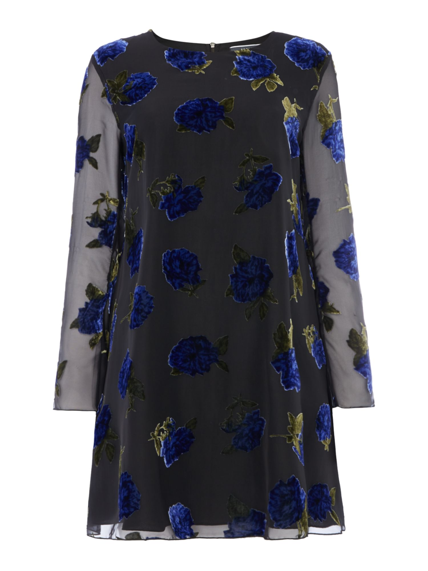 Sportmax Code Ural frill floral dress, Black