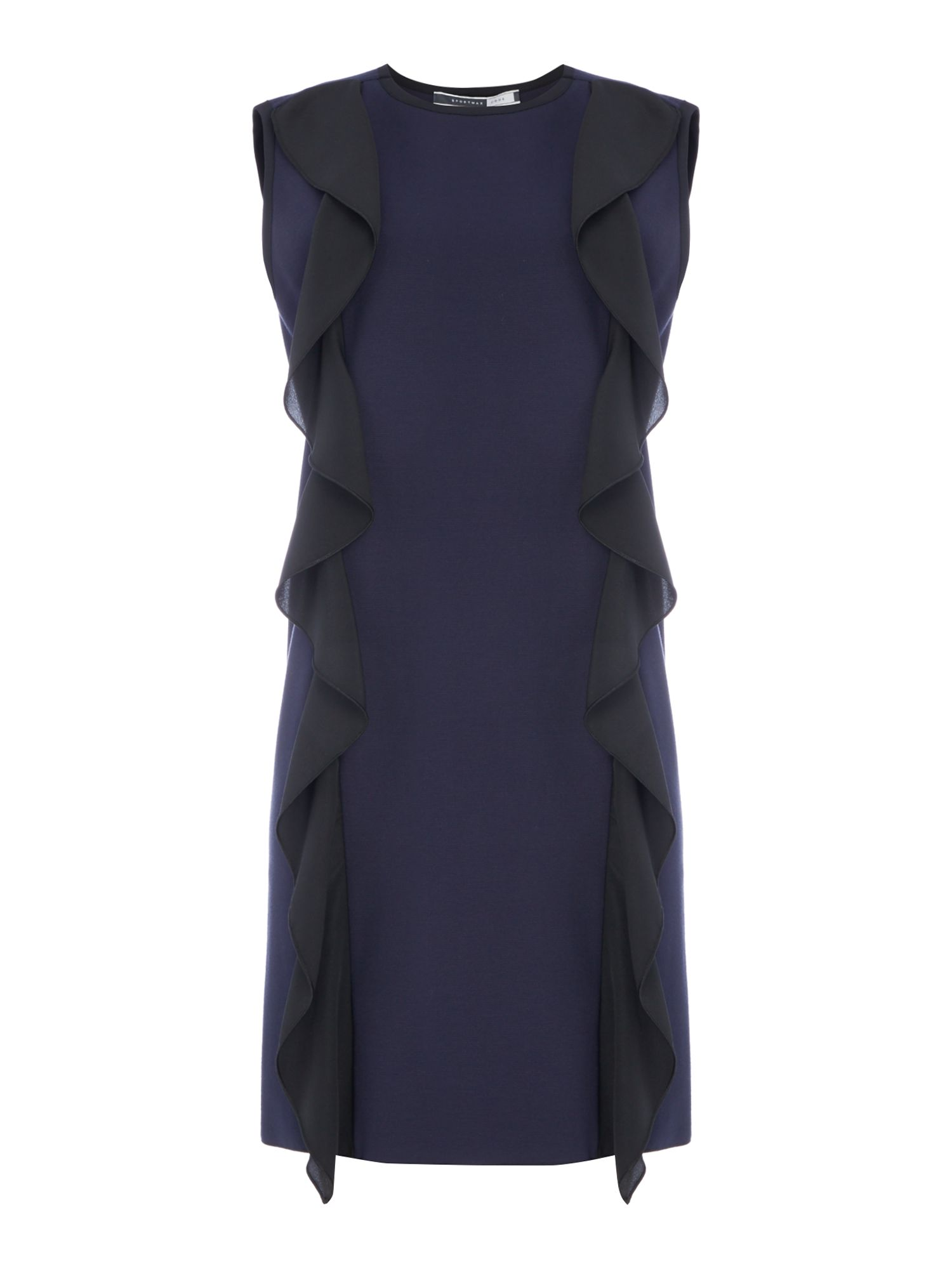 Sportmax Code Musa ruffle sleeveless dress, Cornflower