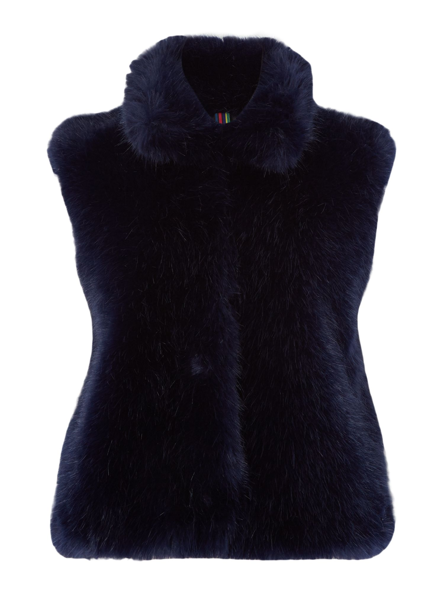 PS By Paul Smith Faux fur gillet, Blue