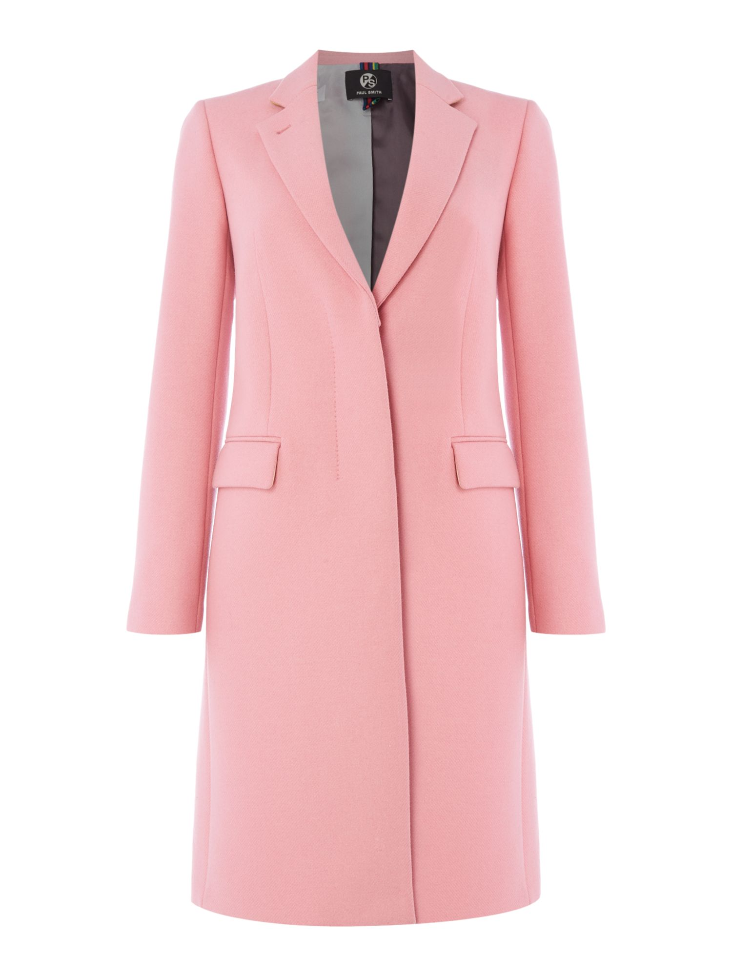 PS By Paul Smith Epsom wool coat, Pink