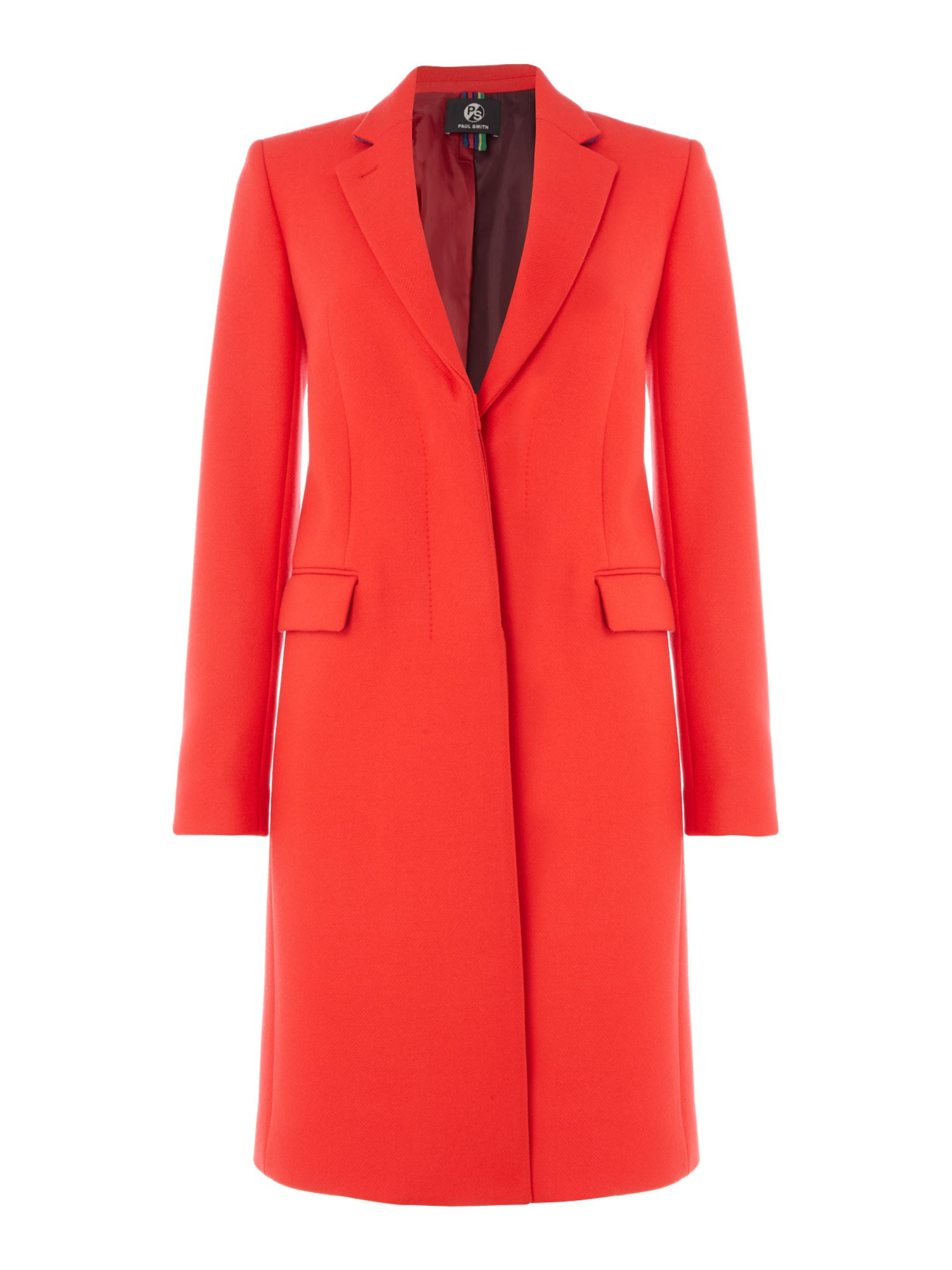 PS By Paul Smith Epsom wool coat, Red