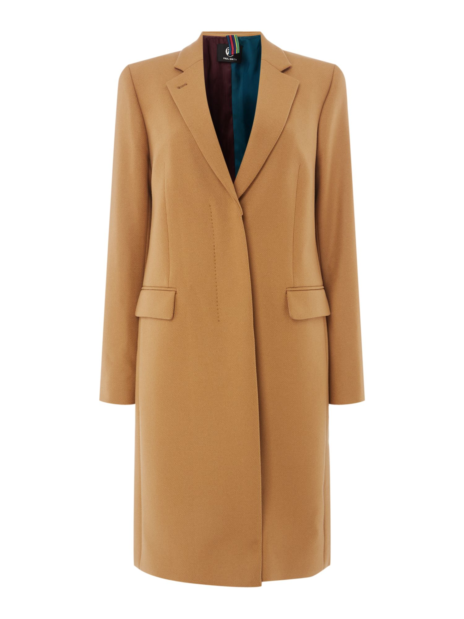 PS By Paul Smith Epsom wool coat, Camel