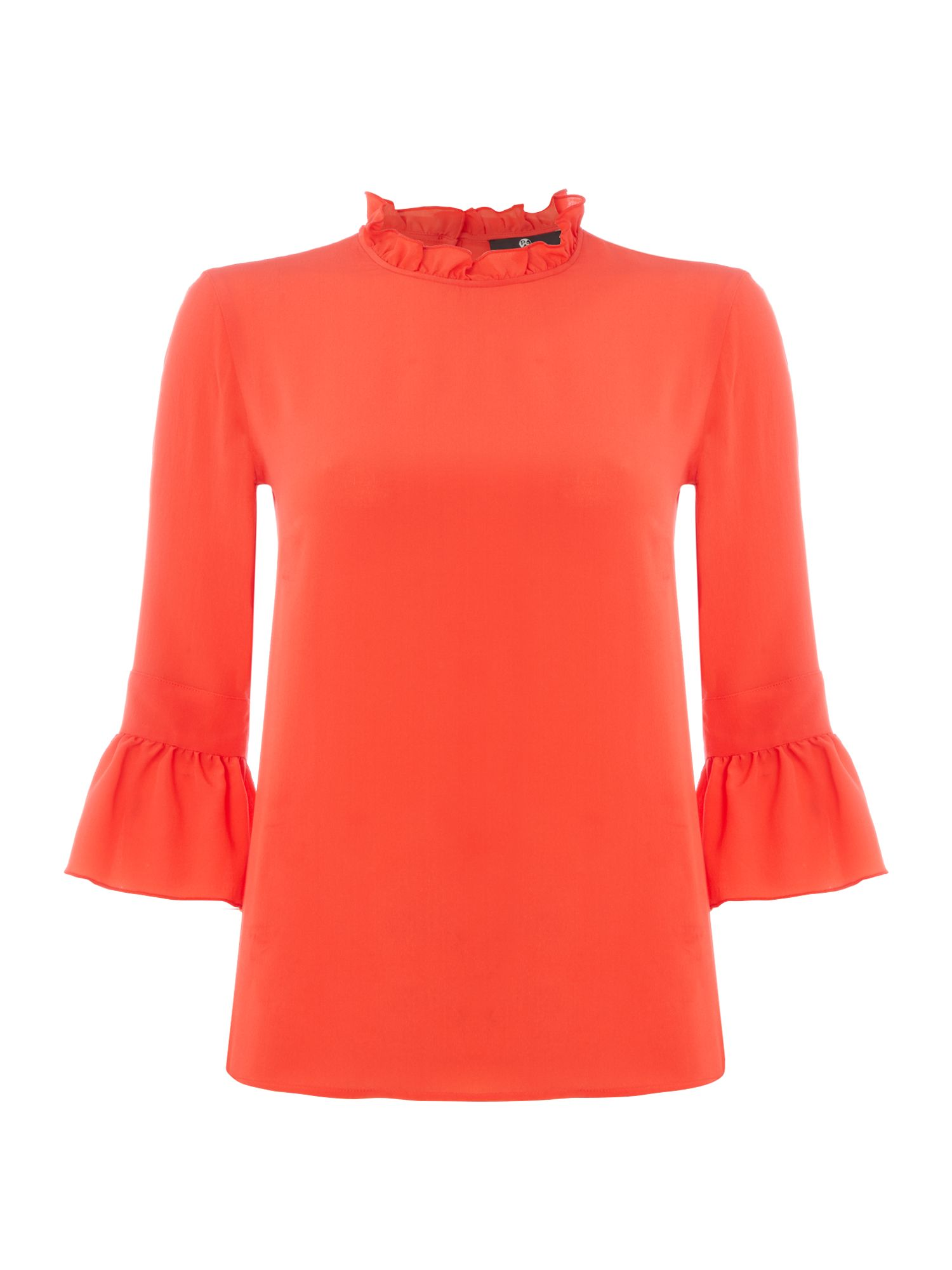 PS By Paul Smith Frill sleeve blouse, Red