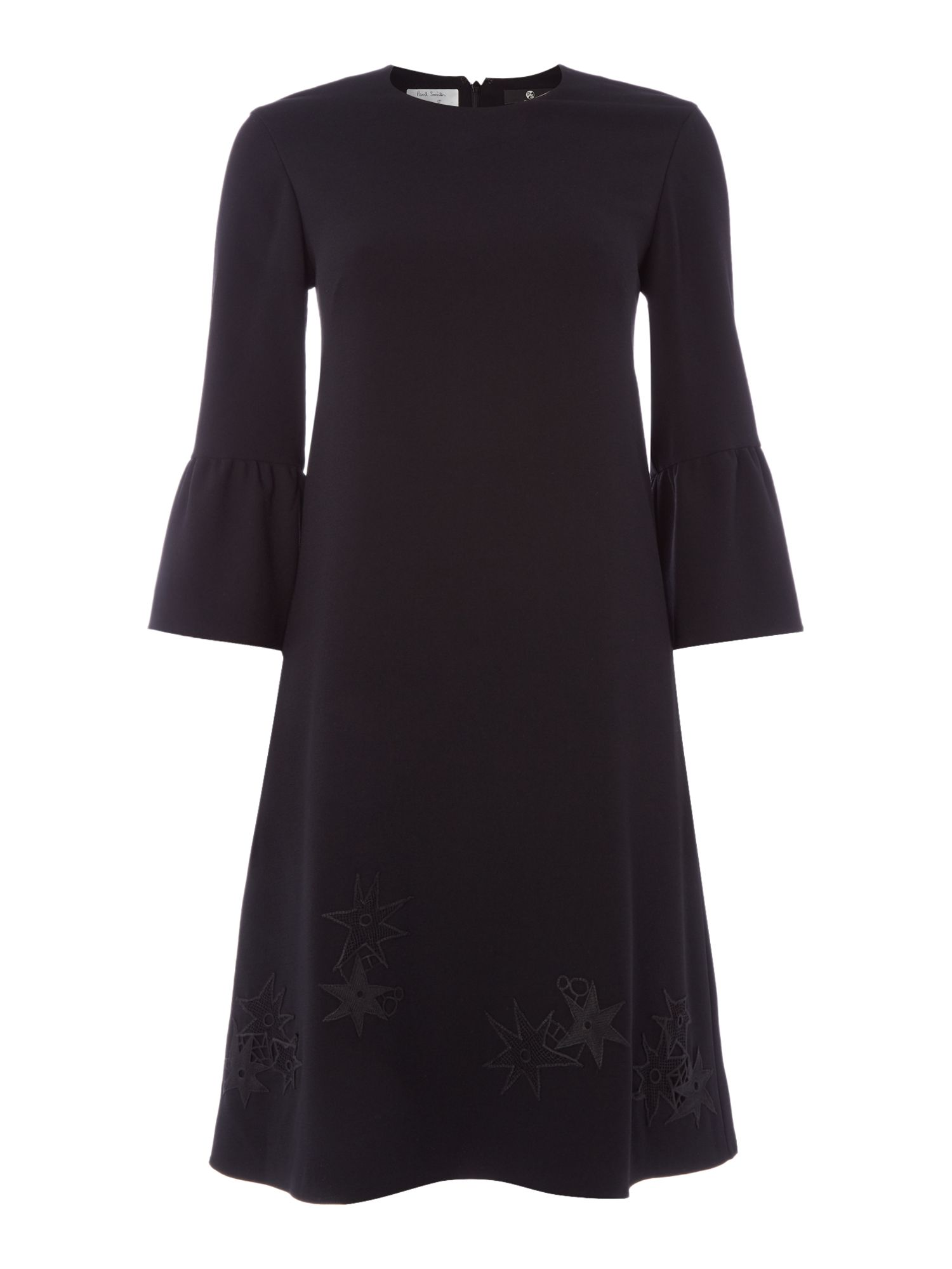 PS By Paul Smith Star detail black dress, Black
