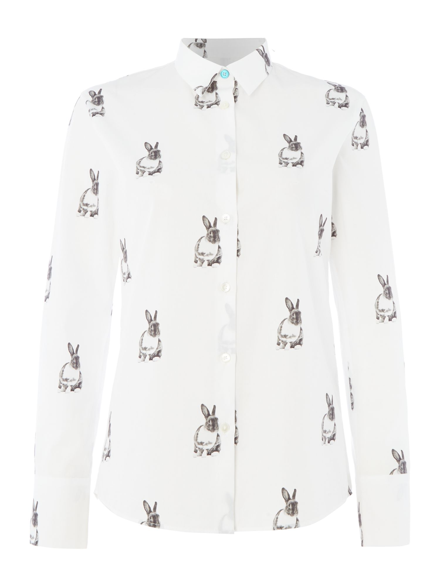 PS By Paul Smith Rabbit printed shirt, White