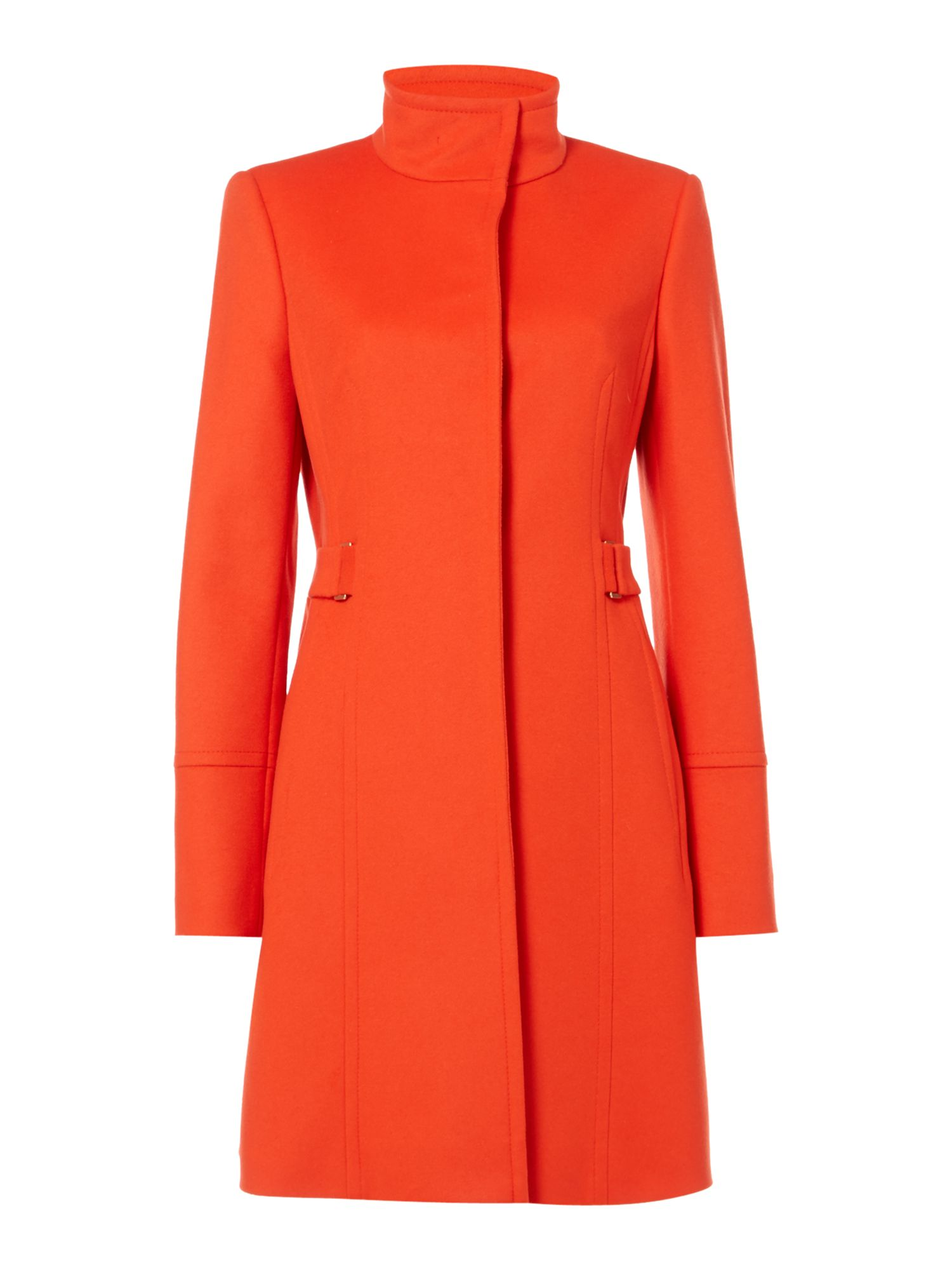 Hugo Boss Cosamyna Side Buckle Coat, Orange