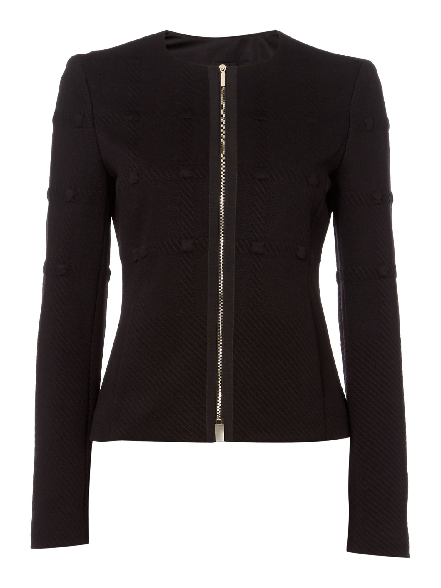 Hugo Boss Kanelli Textured Jacket, Black
