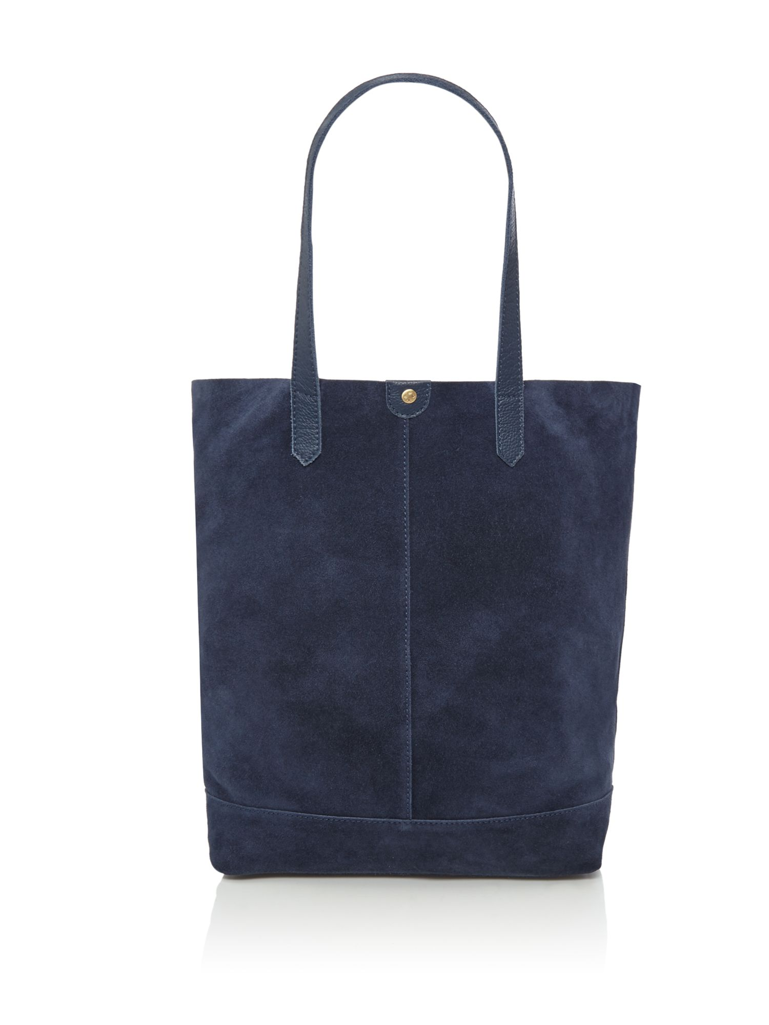 Maison De Nimes Florence suede and leather tote, Blue