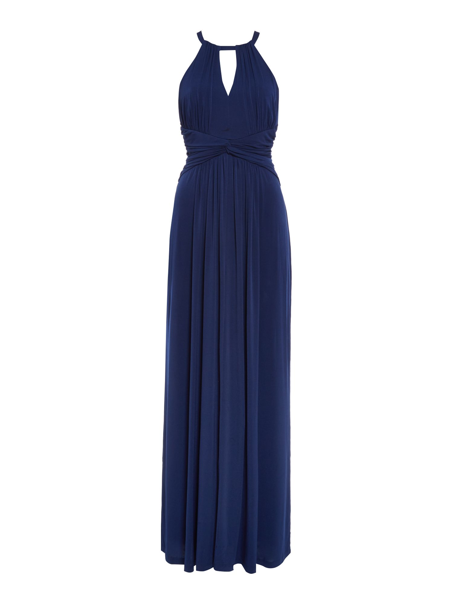 ISSA Ella Halter Maxi Dress, Blue