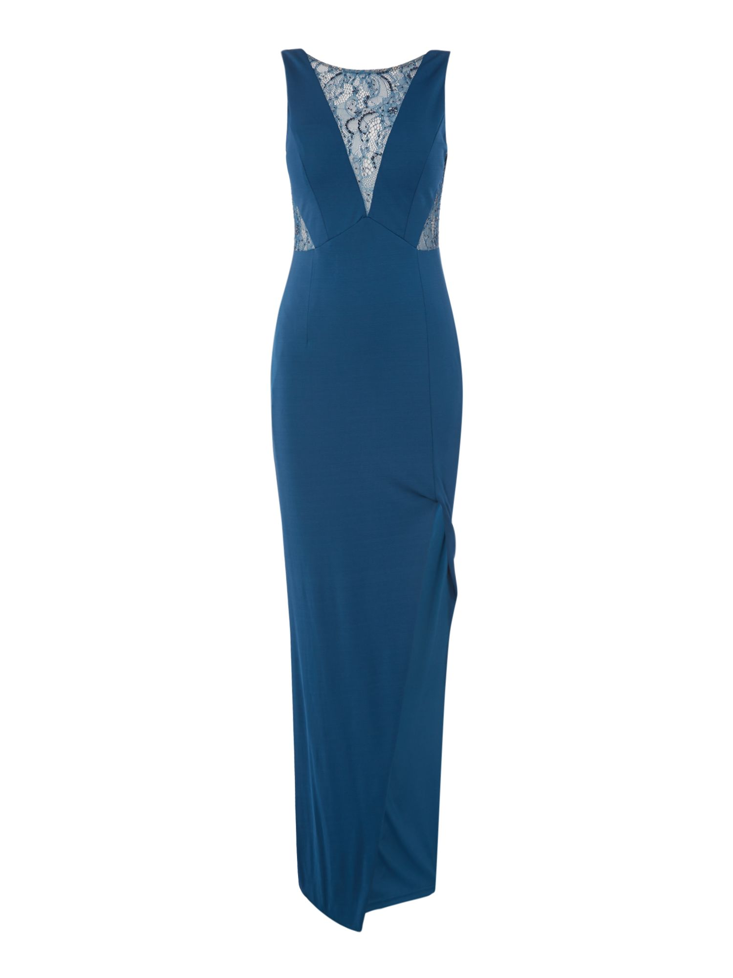 Adrianna Papell Sleeveless lace maxi dress, Blue