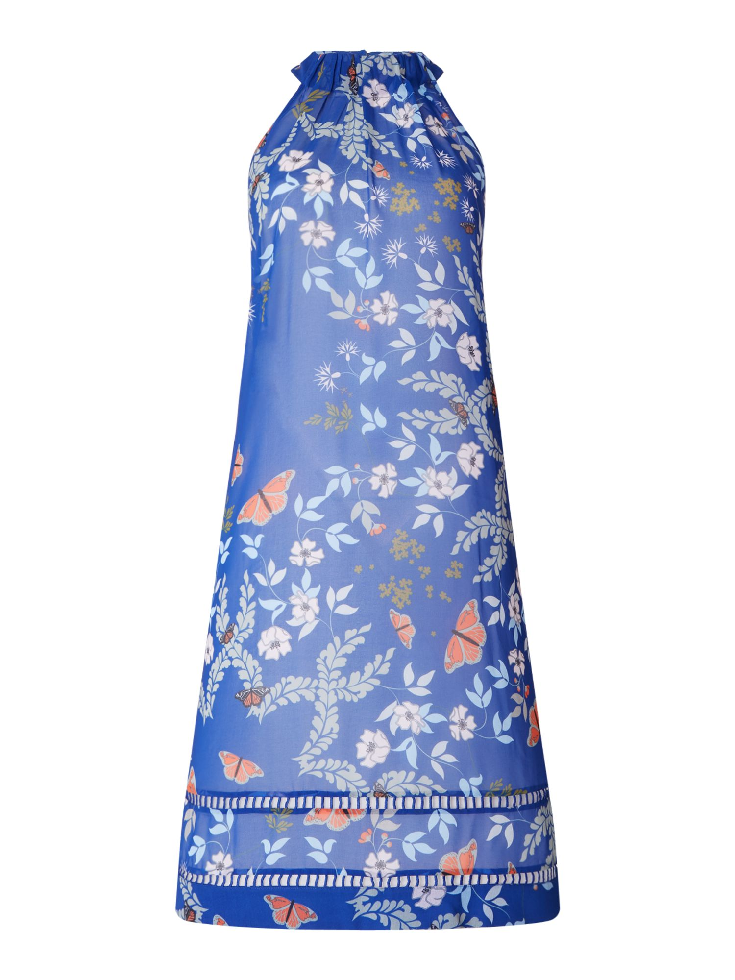 Ted Baker Kyoto gardens high neck cover up, Bright Blue