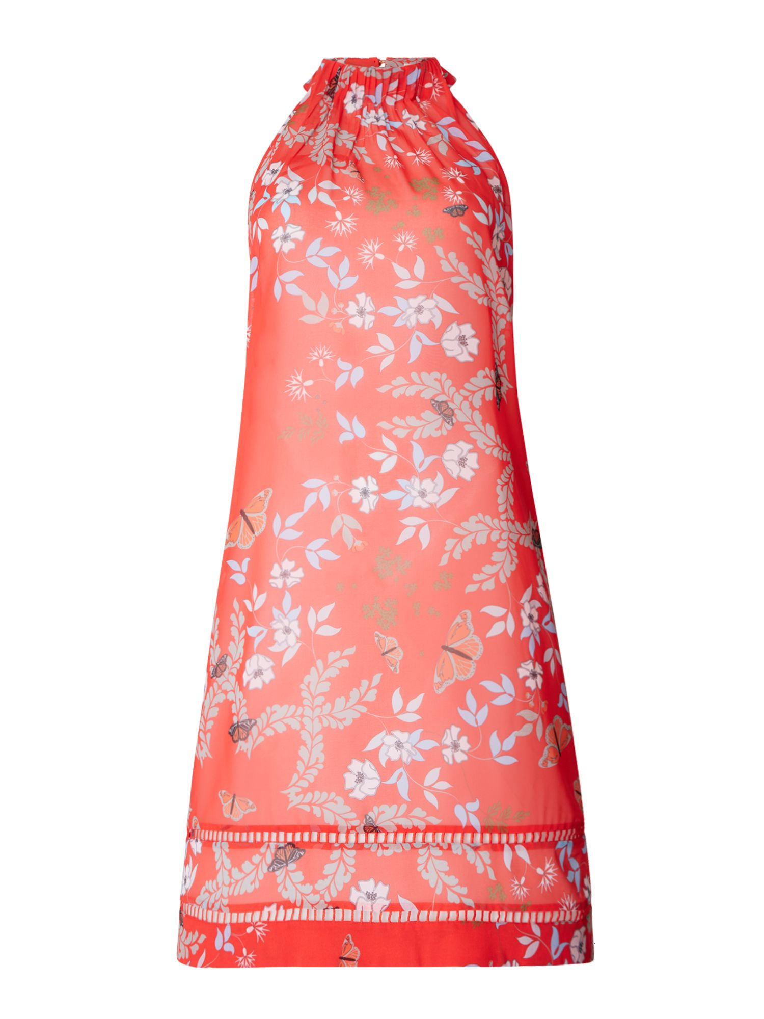 Ted Baker Kyoto gardens high neck cover up, Red