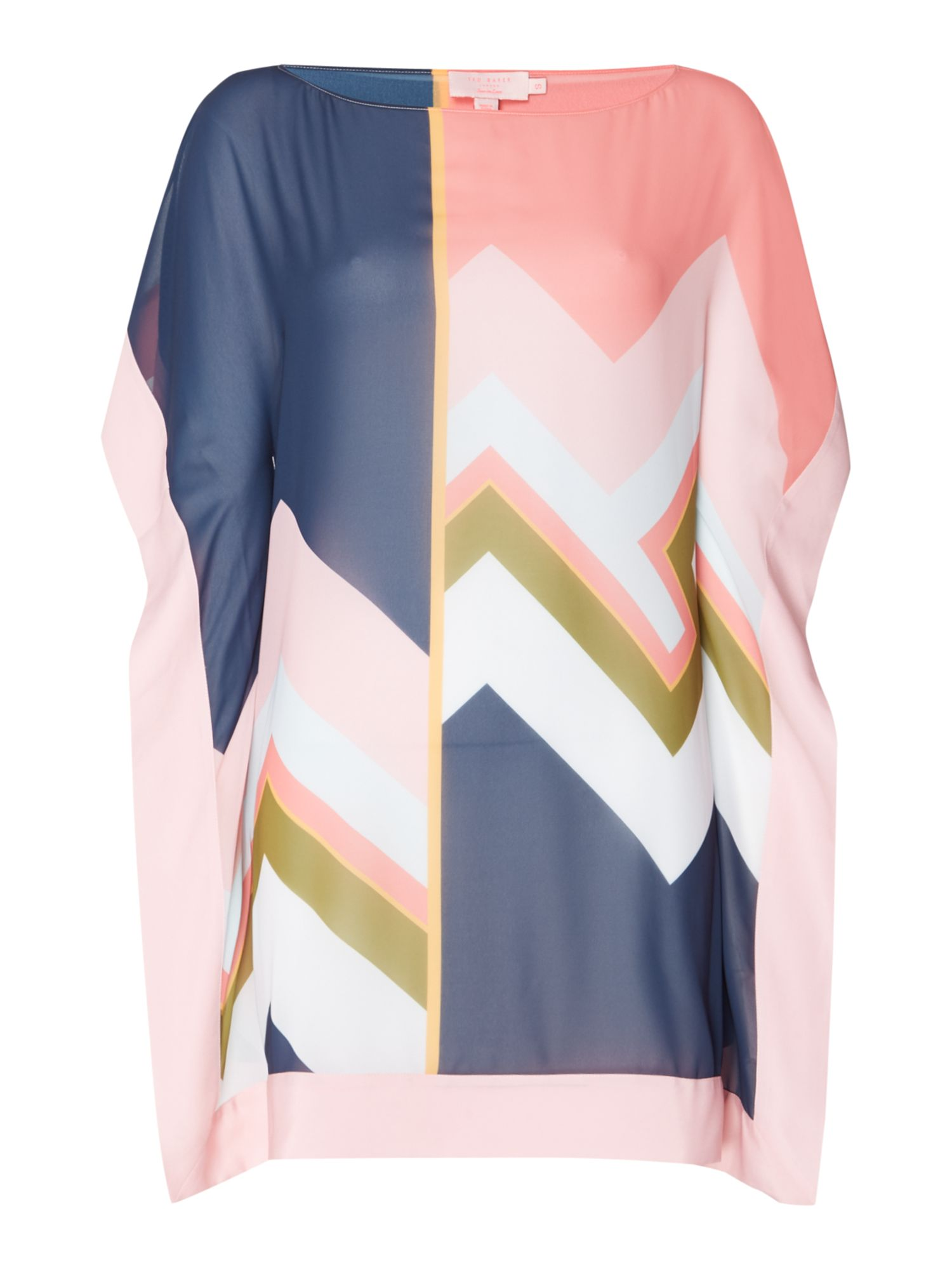 Ted Baker Missisippi colourblock print cover up, Multi-Coloured