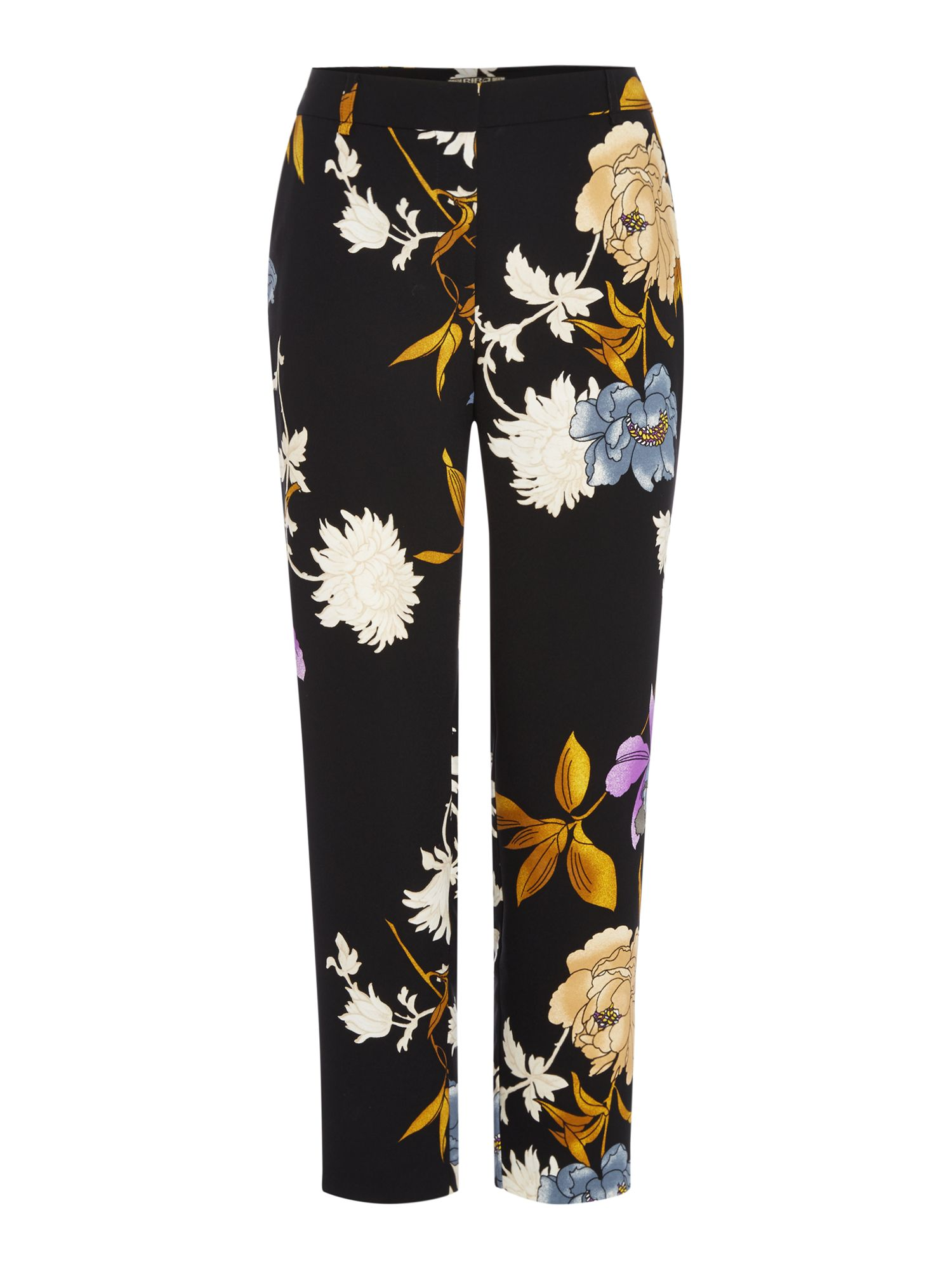 Biba Printed floral tailored trousers, Multi-Coloured