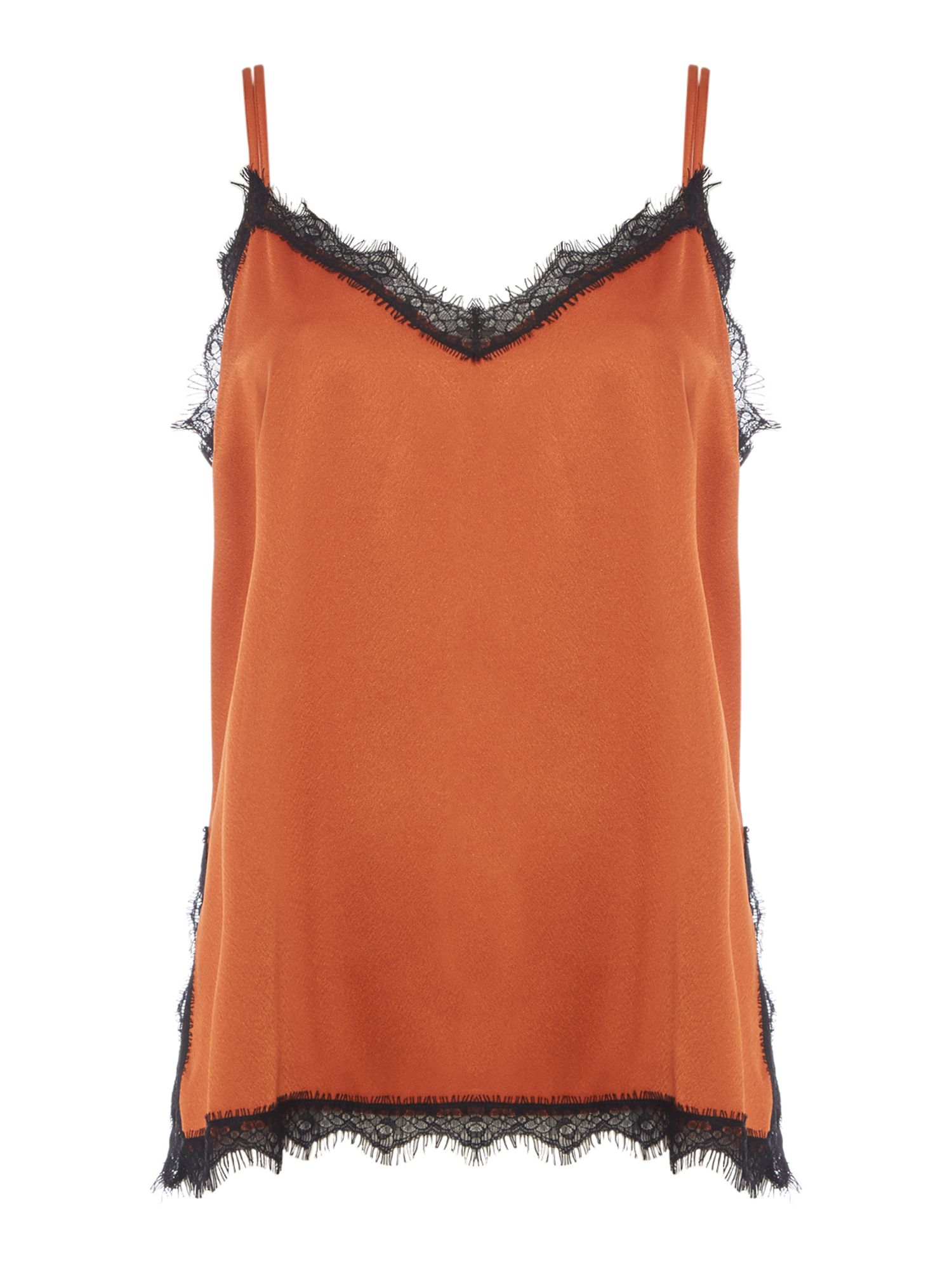 Label Lab Lace trim cami, Cinnamon