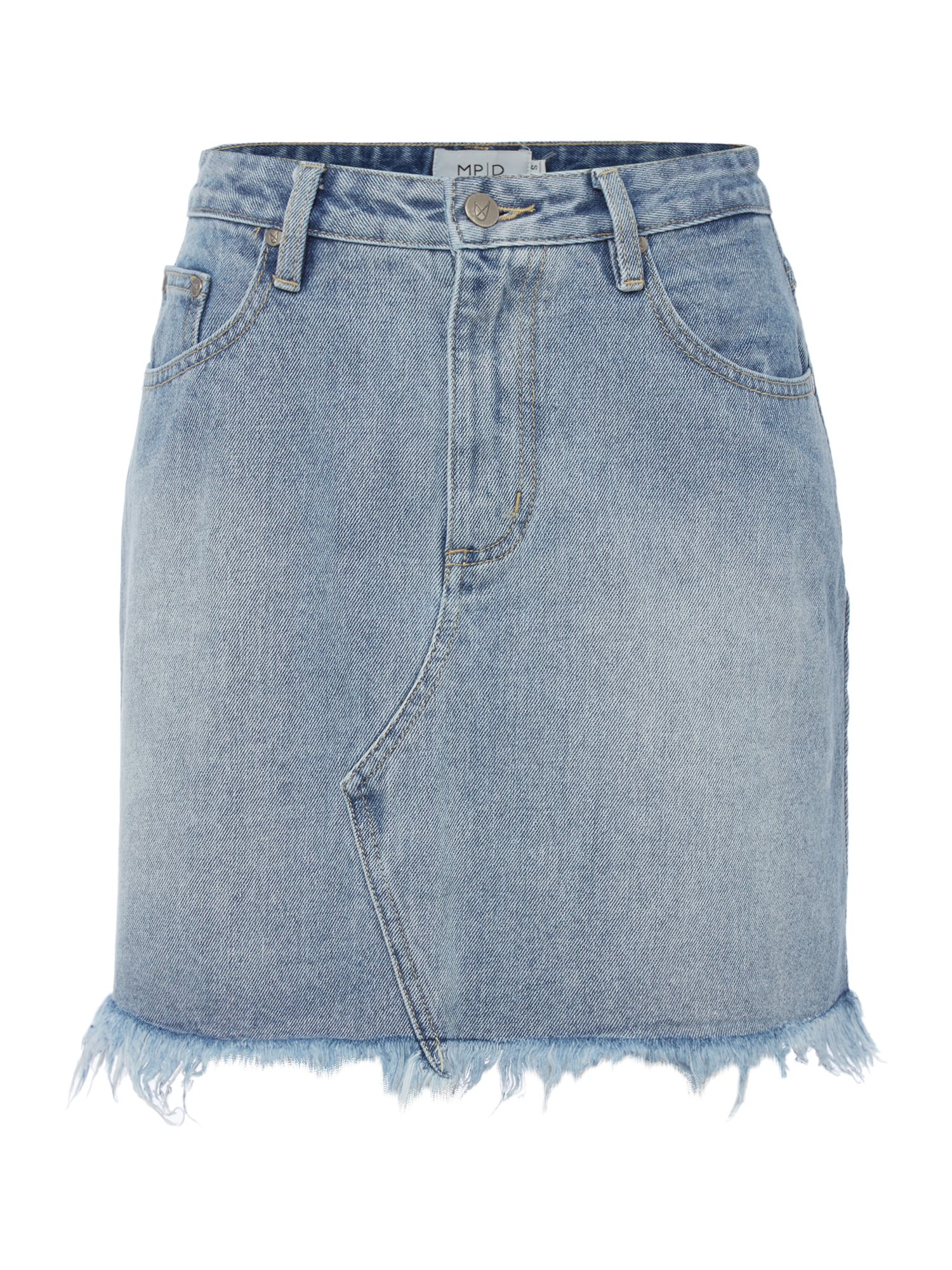 Mink Pink Classic cut-off denim mini skirt, Vintage Blue