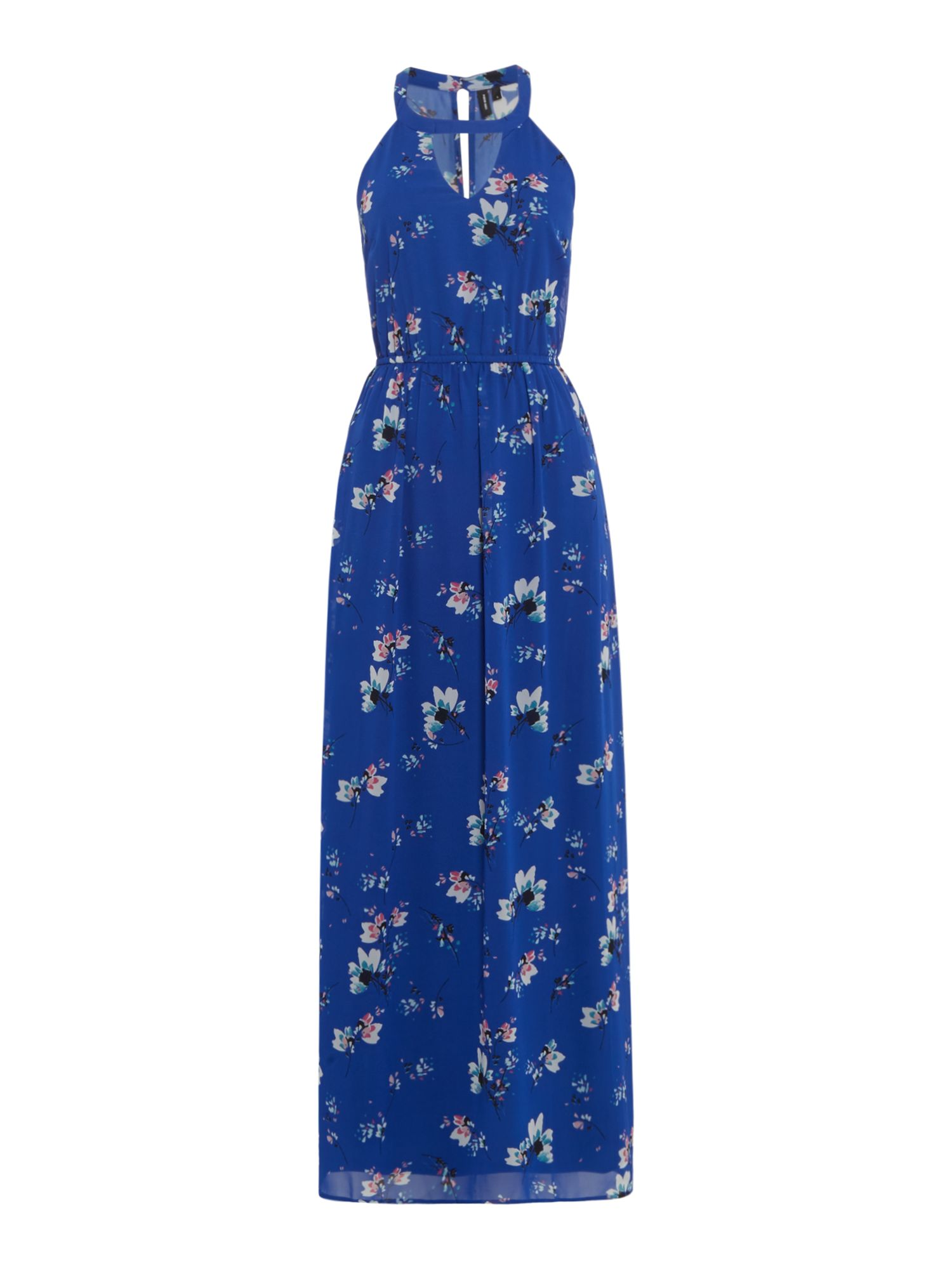 Vero Moda Short sleeves floral maxi dress, Blue