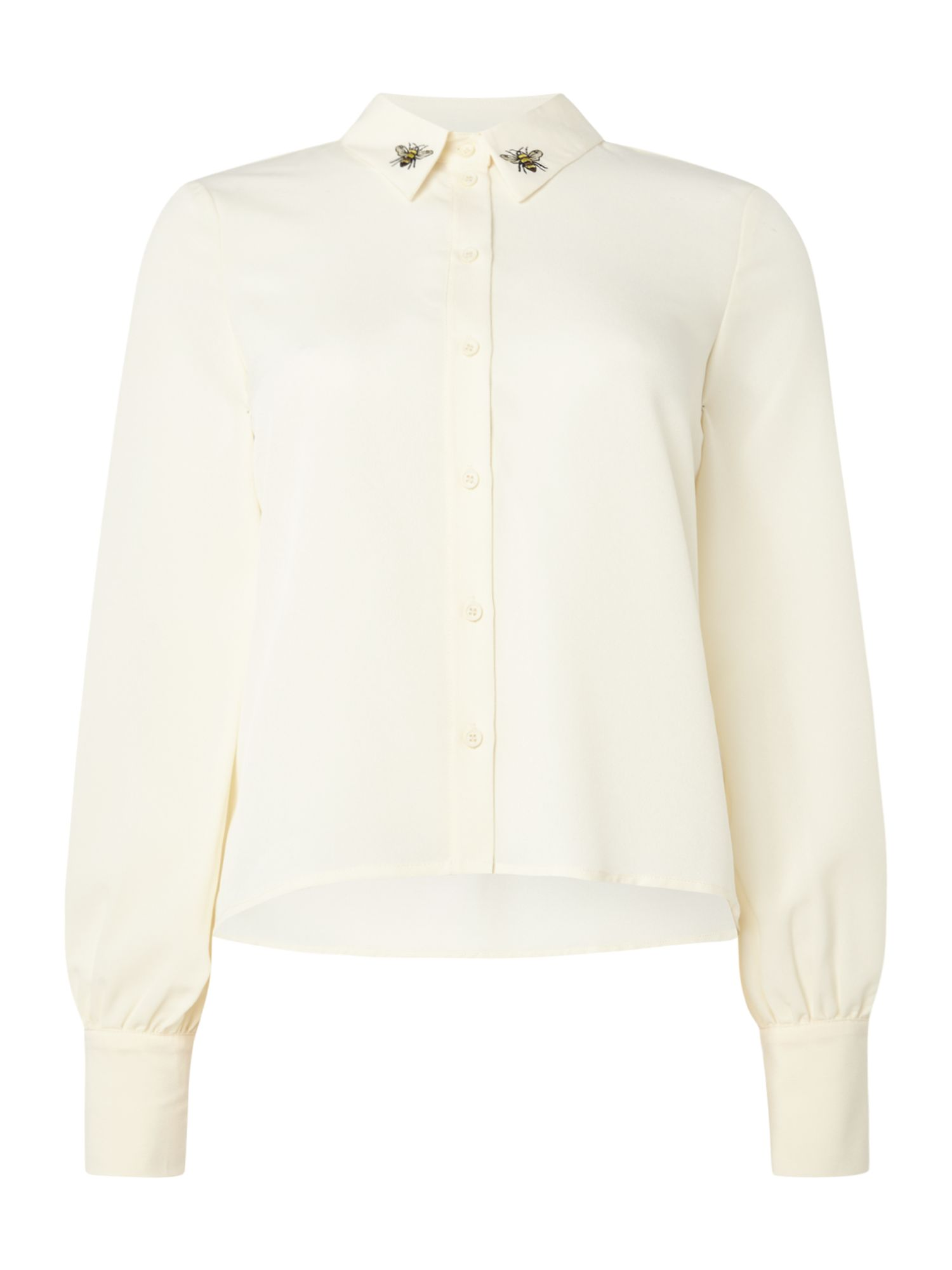 Vero Moda Long sleeves shirt with collar detail, Winter White