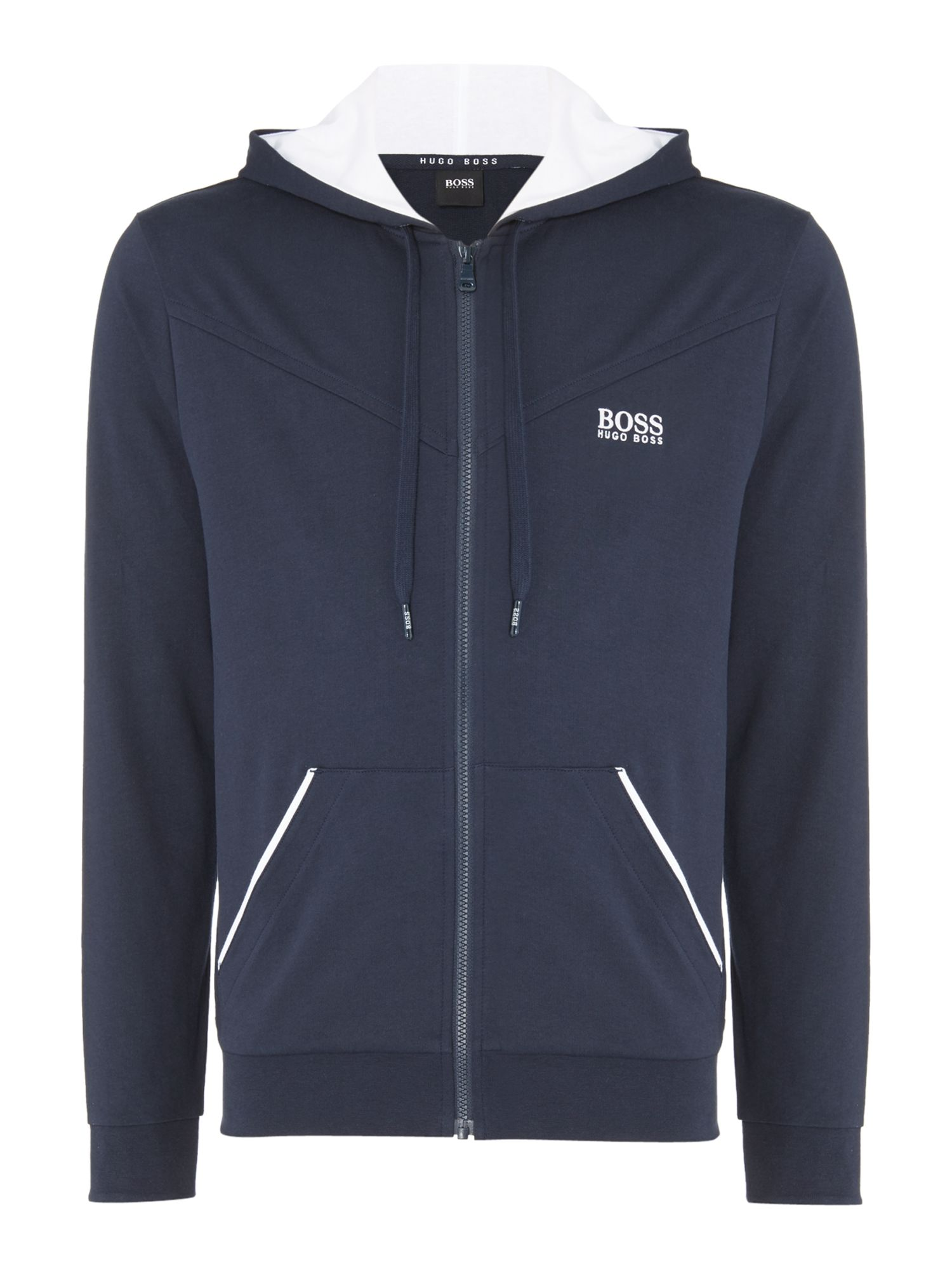 Men's Hugo Boss Chest Logo Hooded Lounge Sweatshirt, Blue