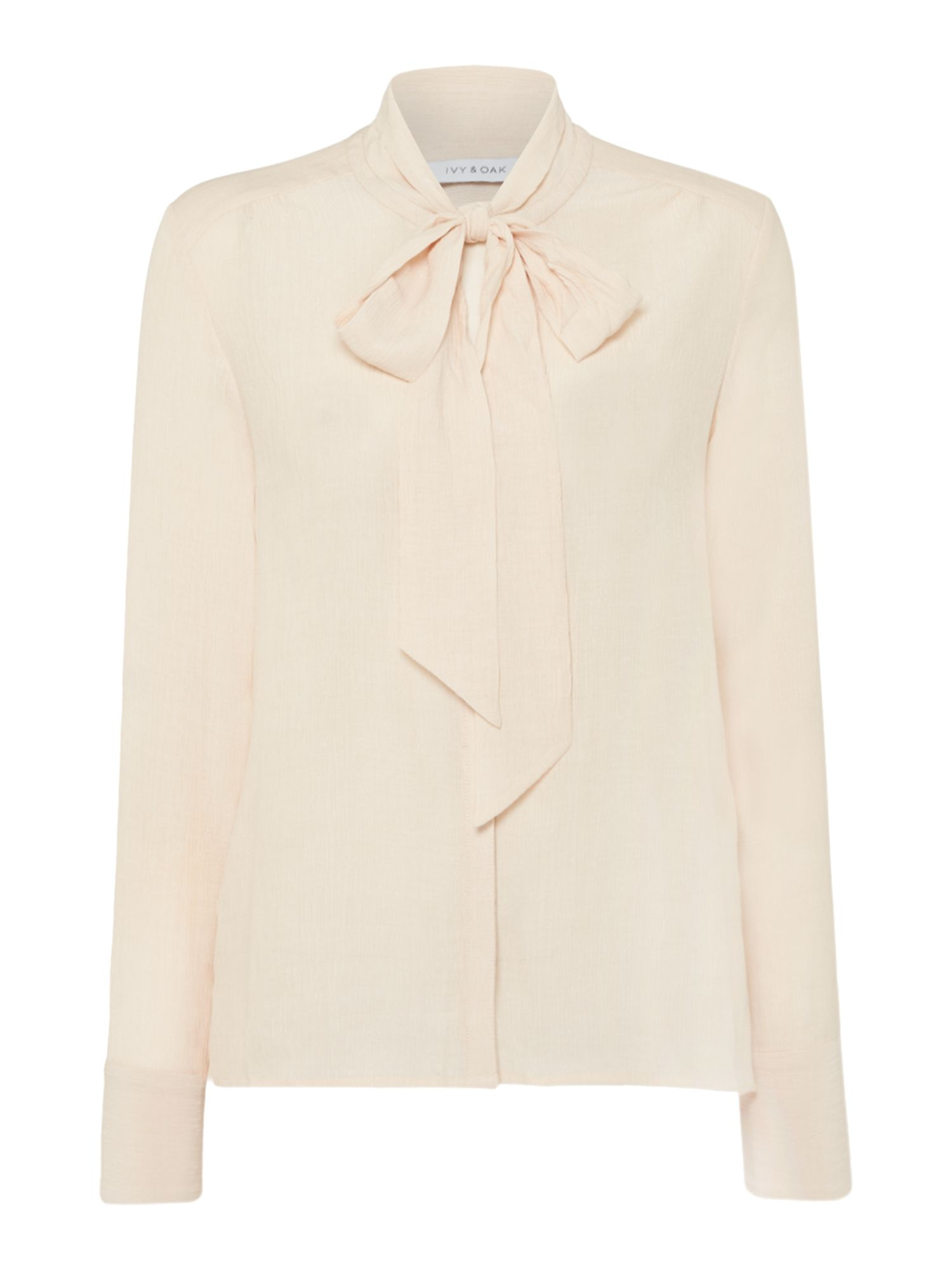 Ivy & Oak Long sleeve blouse with bow, Pink