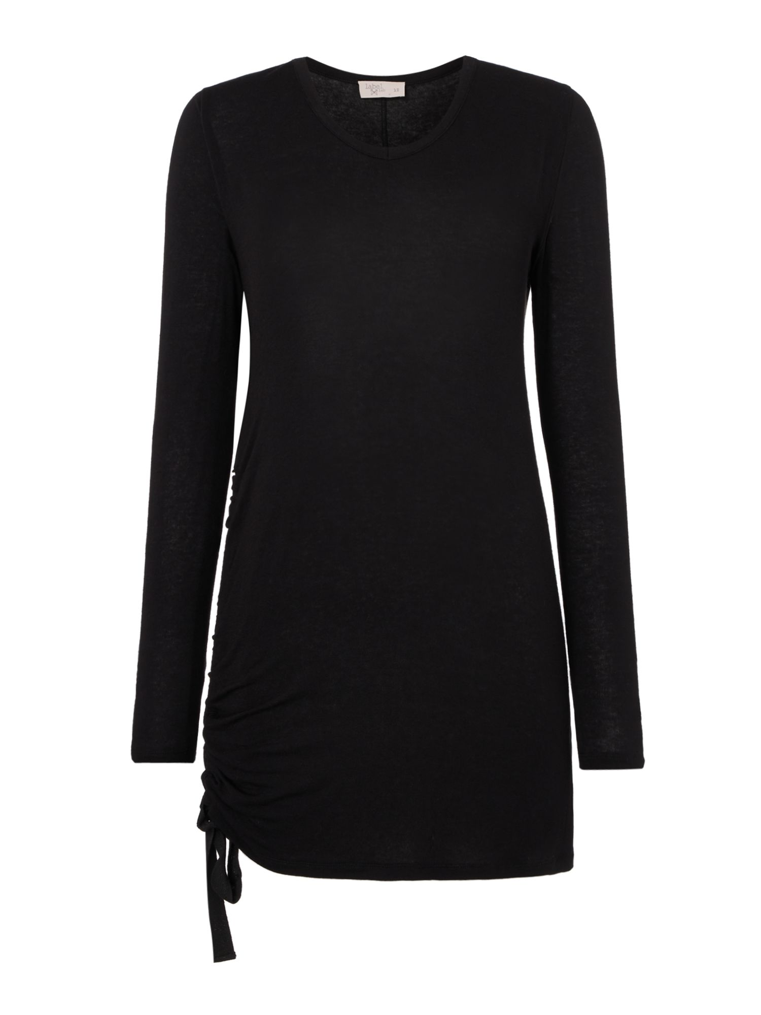 Label Lab Ruche Tape Top, Black