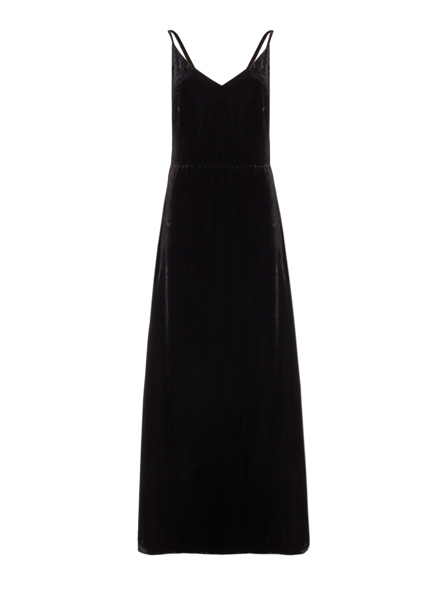 Ivy & Oak Cross strap velvet maxi, Black