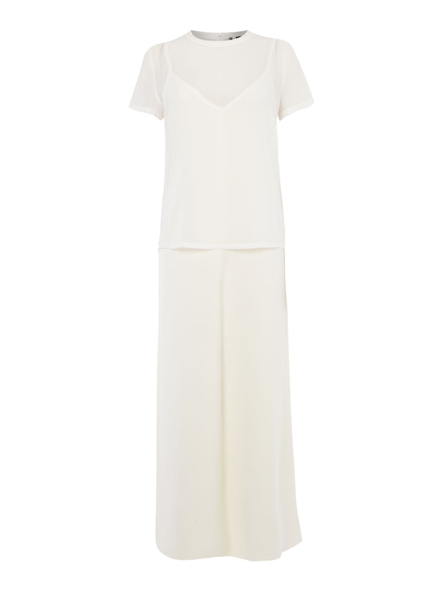 Marella Cannes sleeveless slip dress, White