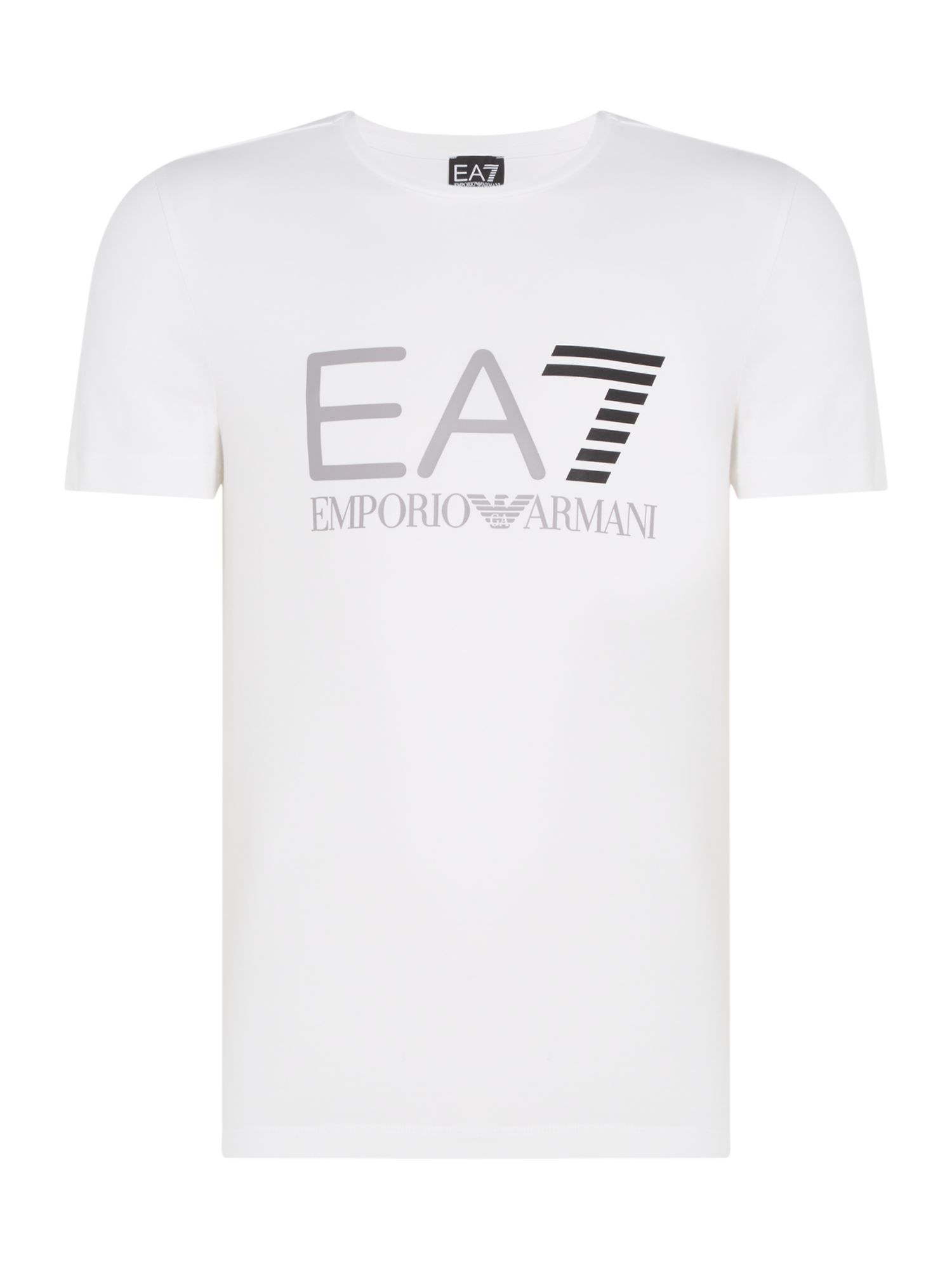 Men's EA7 Train logo series crew neck T-shirt, White